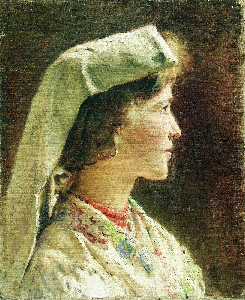 Портрет девушки в профиль. 1910-е