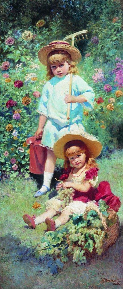 Портрет детей художника. 1882