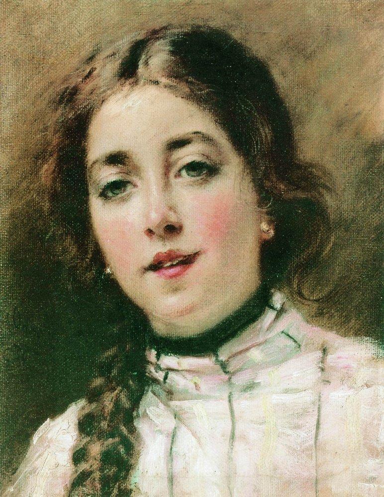Портрет дочери художника. Оленька. 1900-е