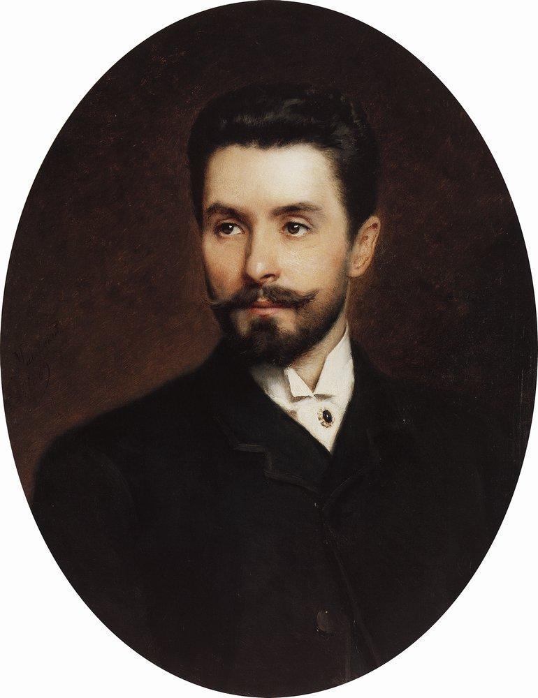 Портрет оперного певца Н.Н.Фигнера. 1889