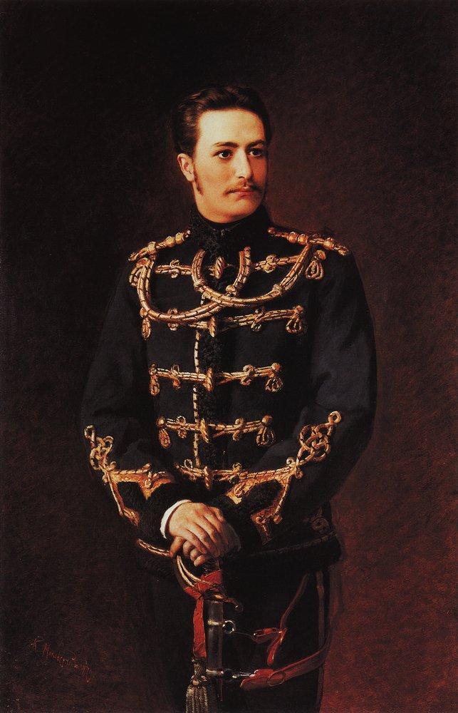 Портрет поручика лейб-гвардии Гусарского полка графа Г.А.Бобринского. 1879