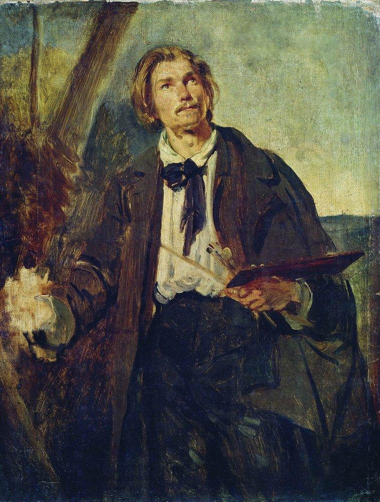 Портрет художника Александра Павловича Попова (Московского). Конец 1850-х