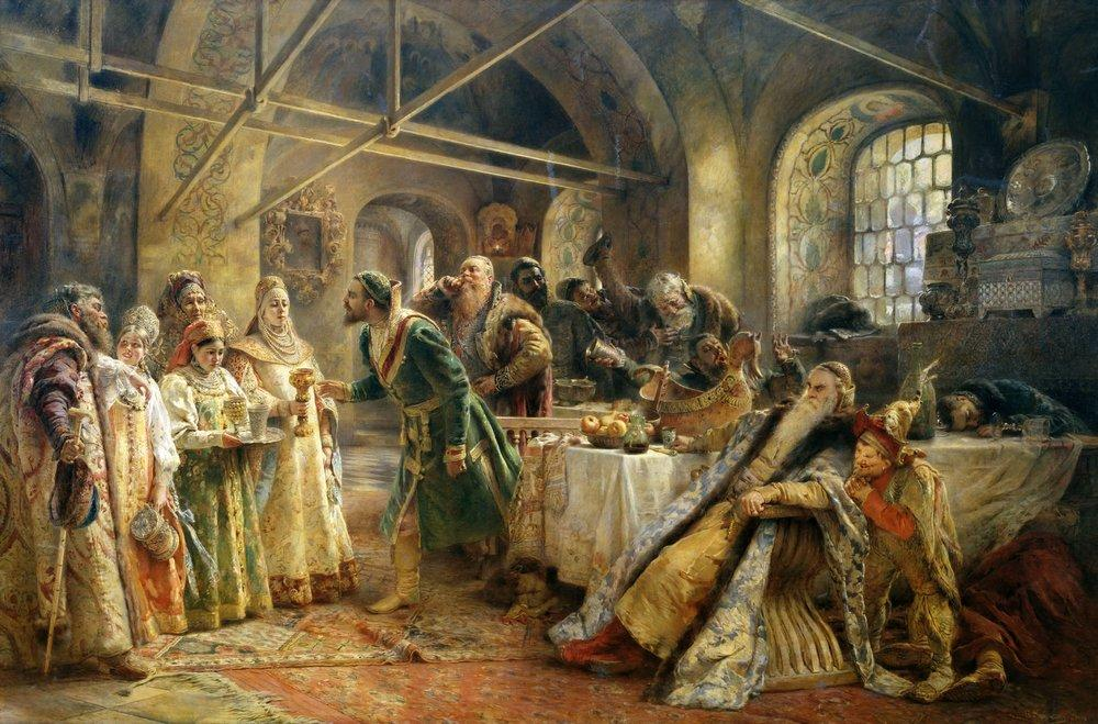Поцелуйный обряд (Пир у боярина Морозова). 1895