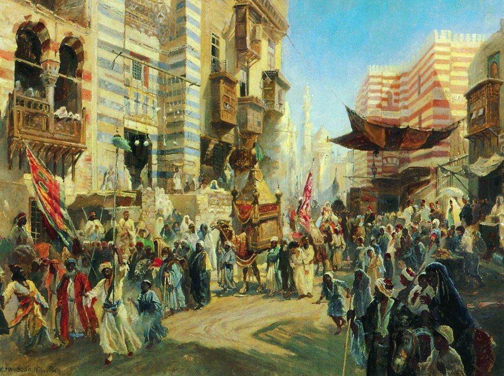 Праздник перенесения священного ковра из Каира в Мекку. 1876