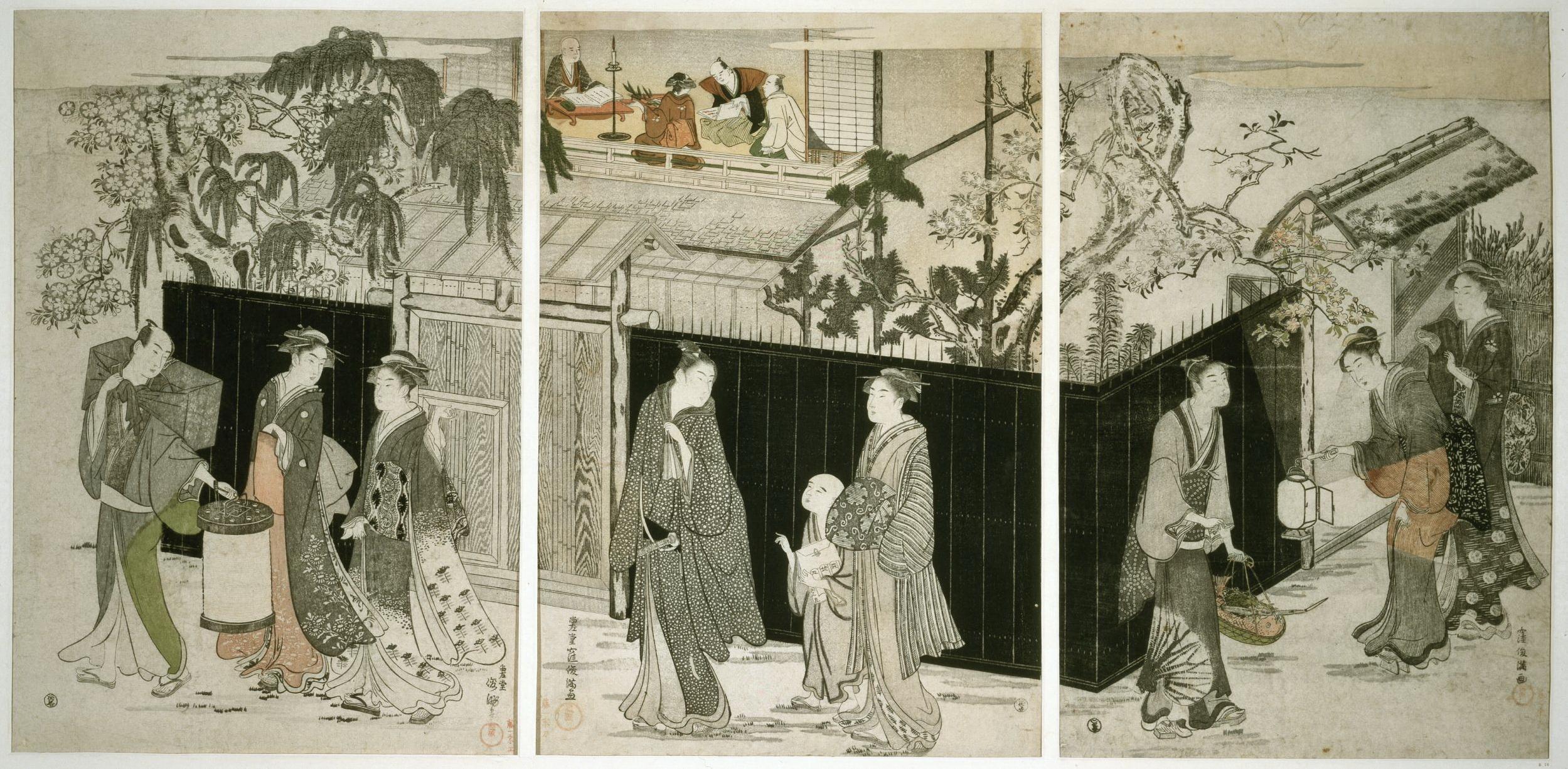 Триптих Собрание поэтов в ночное время_1787-1788_375х255 каждый лист