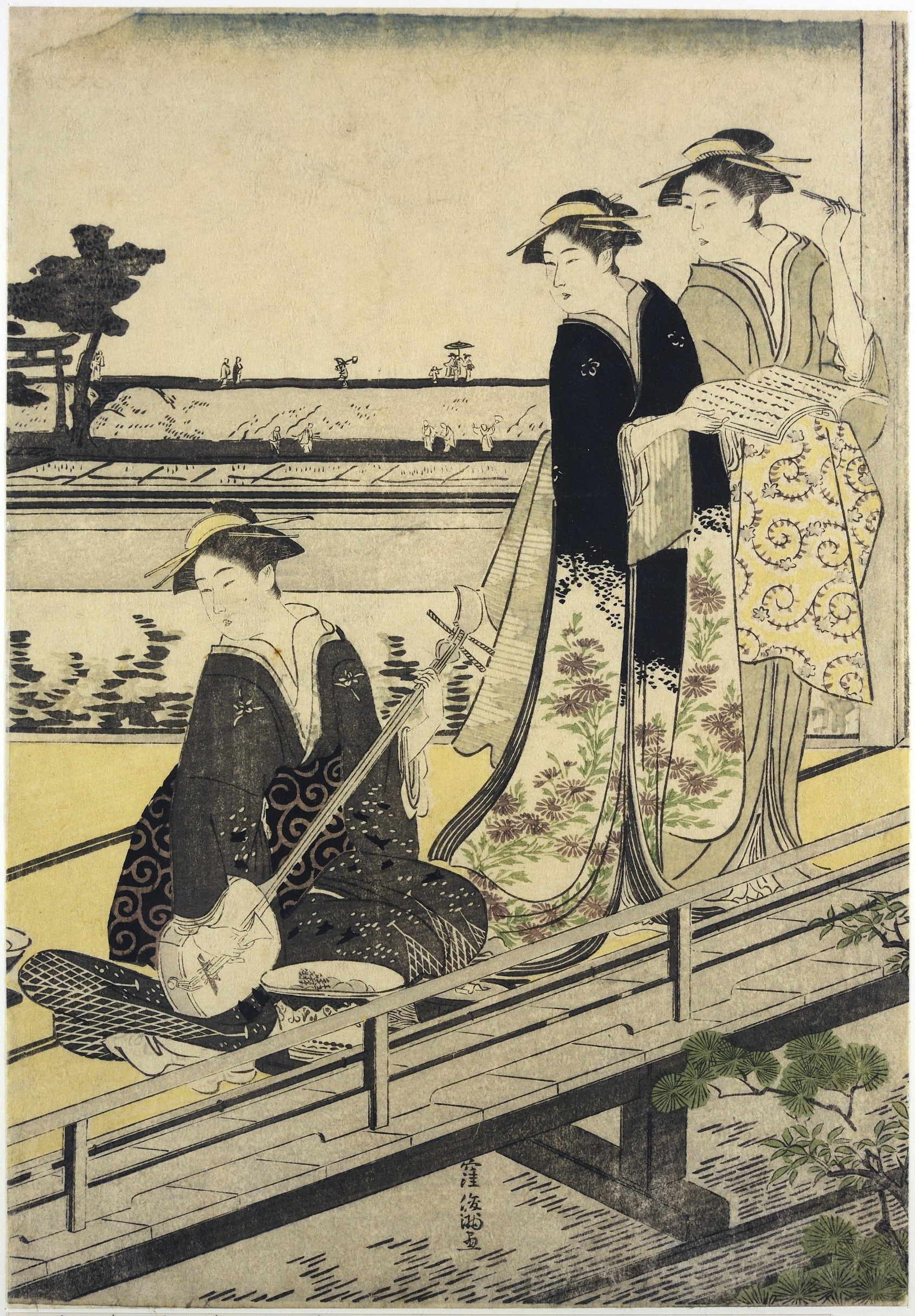 Триптих Сцена в ресторане Накадая в Микодзима_1787-1788_лист 2_320х220 мм