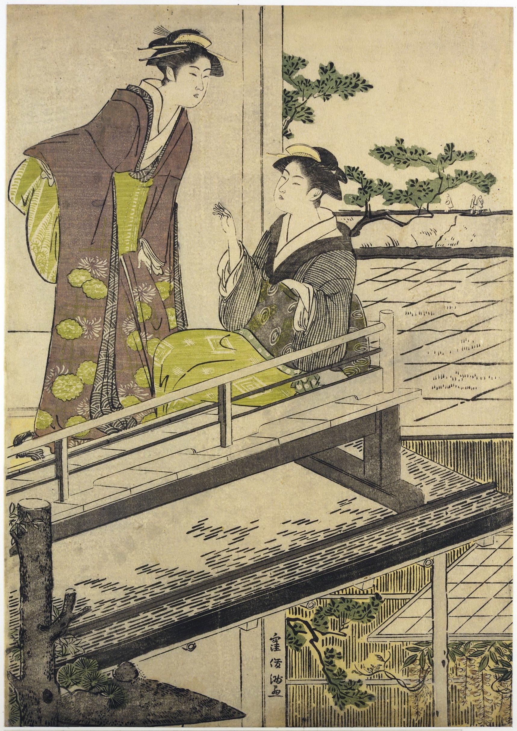 Триптих Сцена в ресторане Накадая в Микодзима_1787-1788_лист 3_320х220 мм