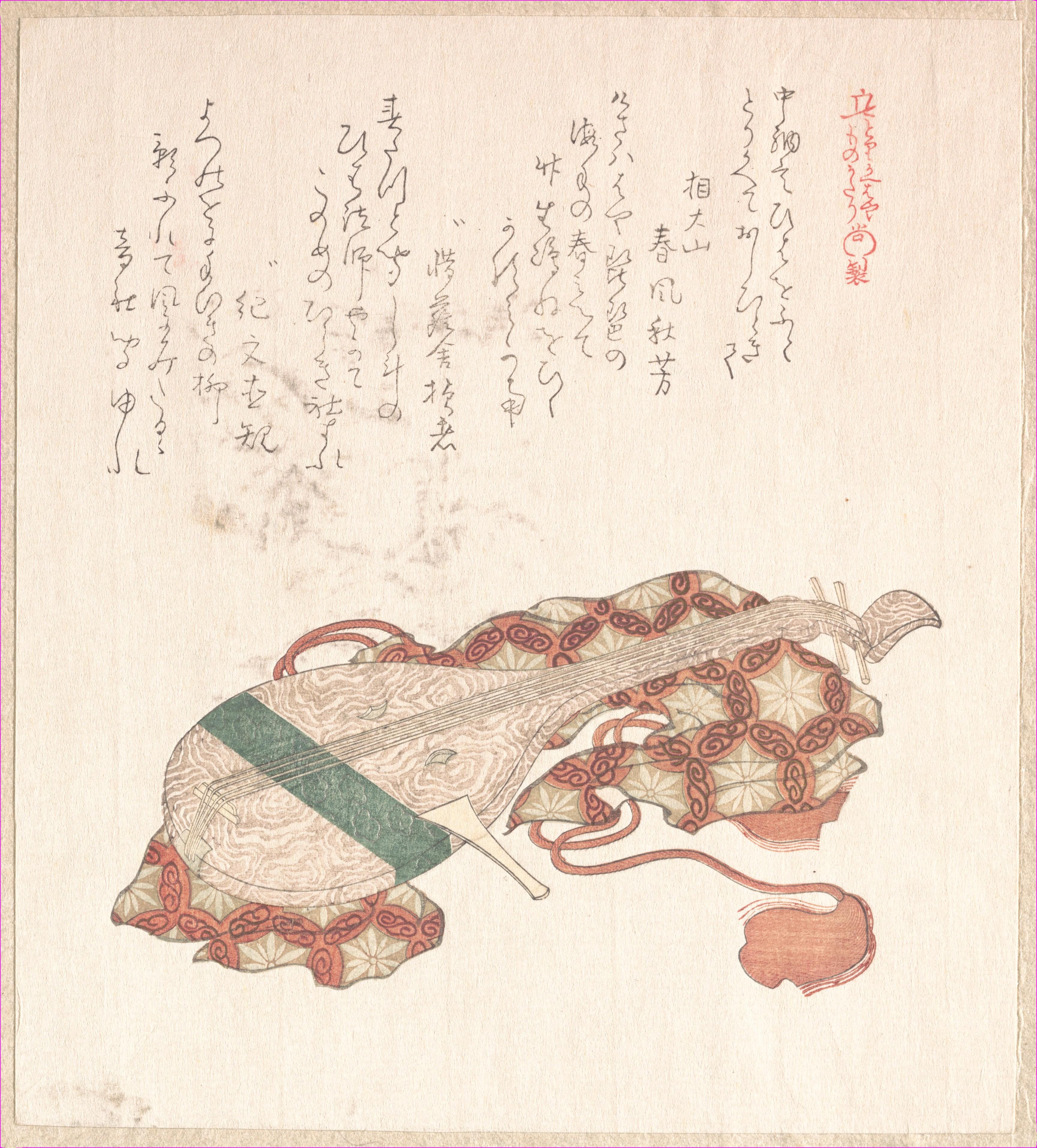 Бива (японская лютня) с кожухом_203х183 мм