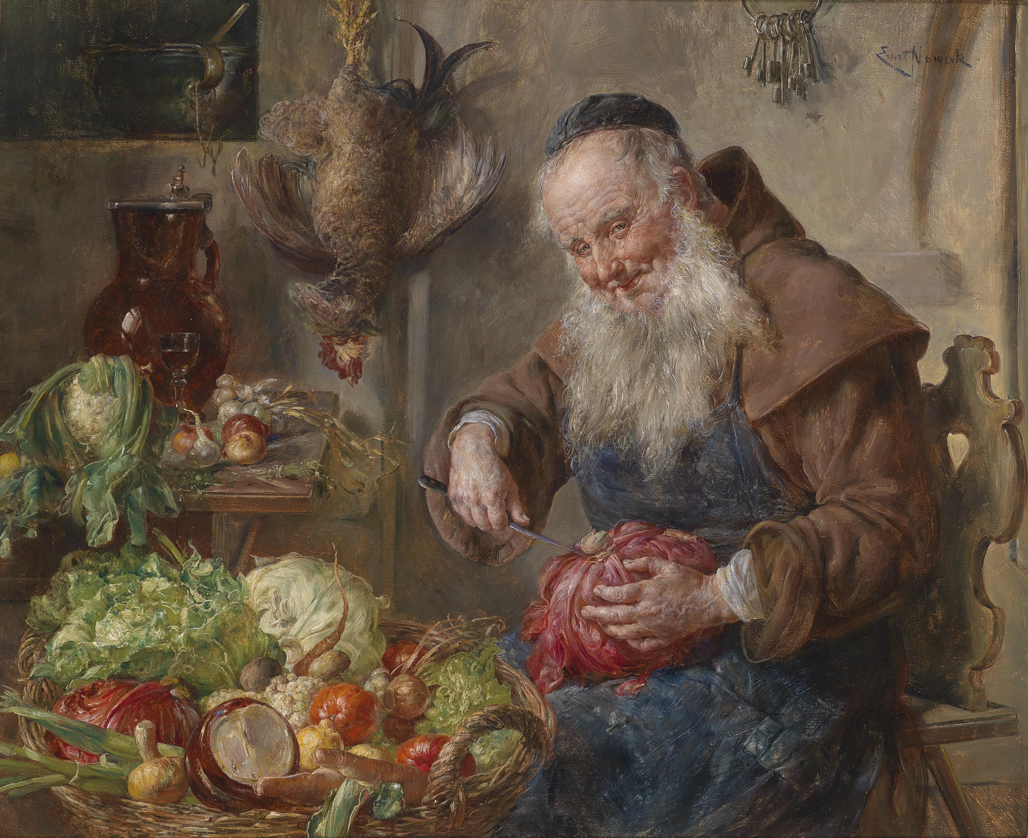 Ernst_Nowak_Mönch_in_der_Küche