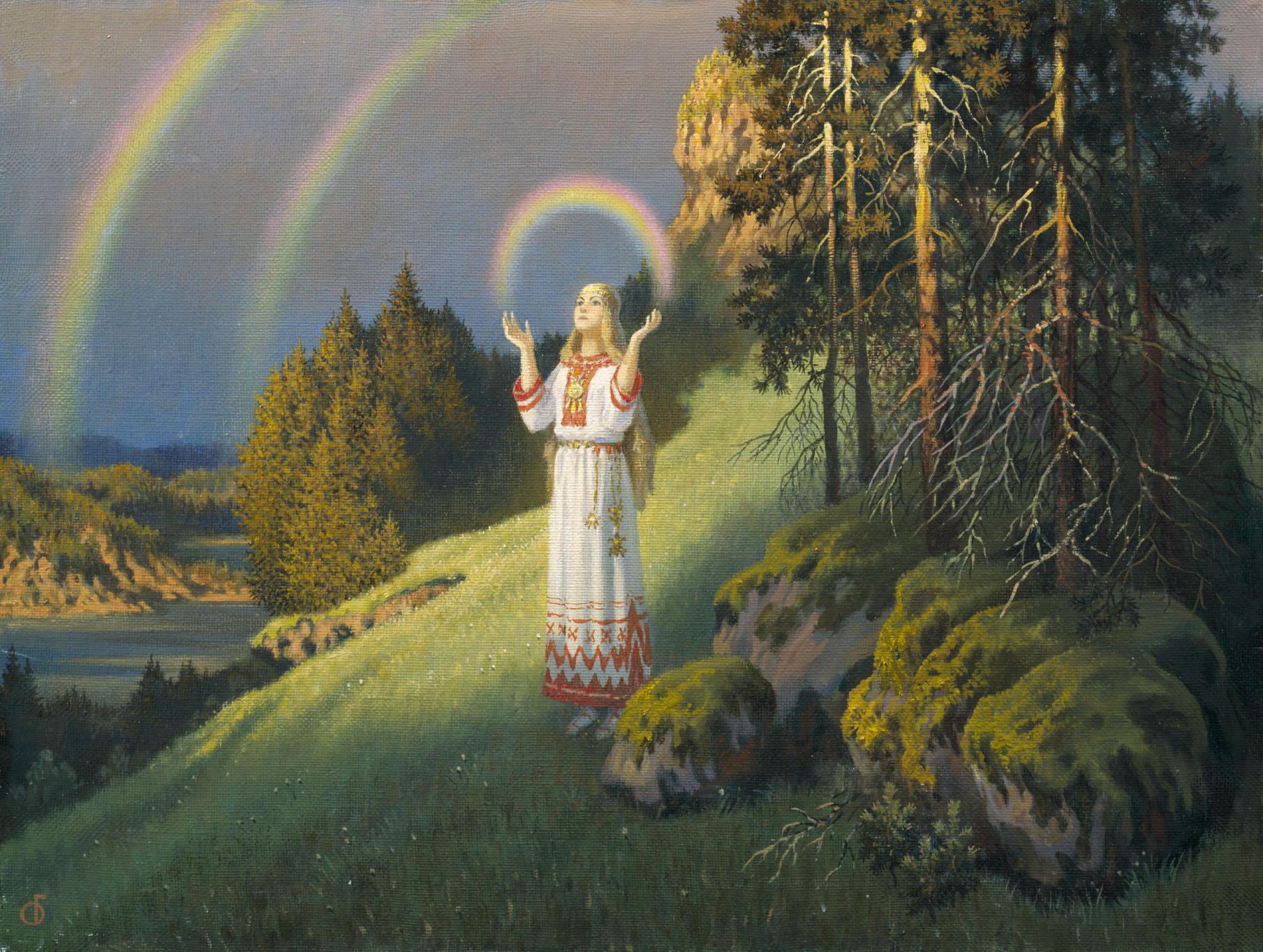 Волхова с радугой