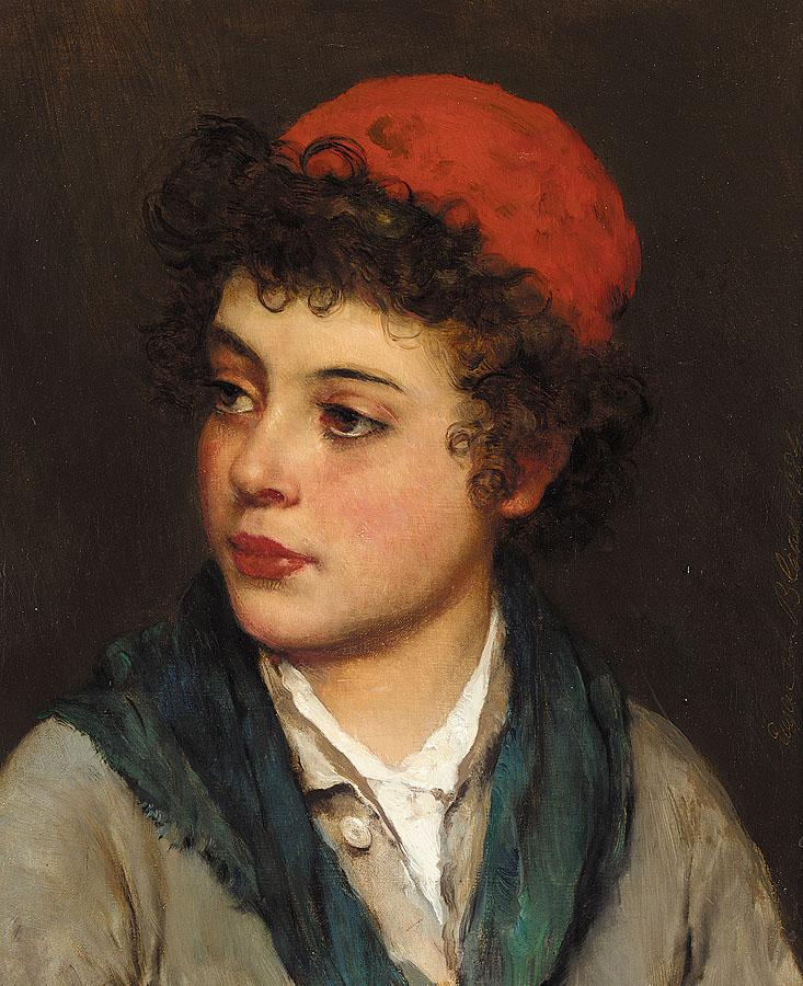 Blaas_Eugen_von_Portrait_of_a_Boy