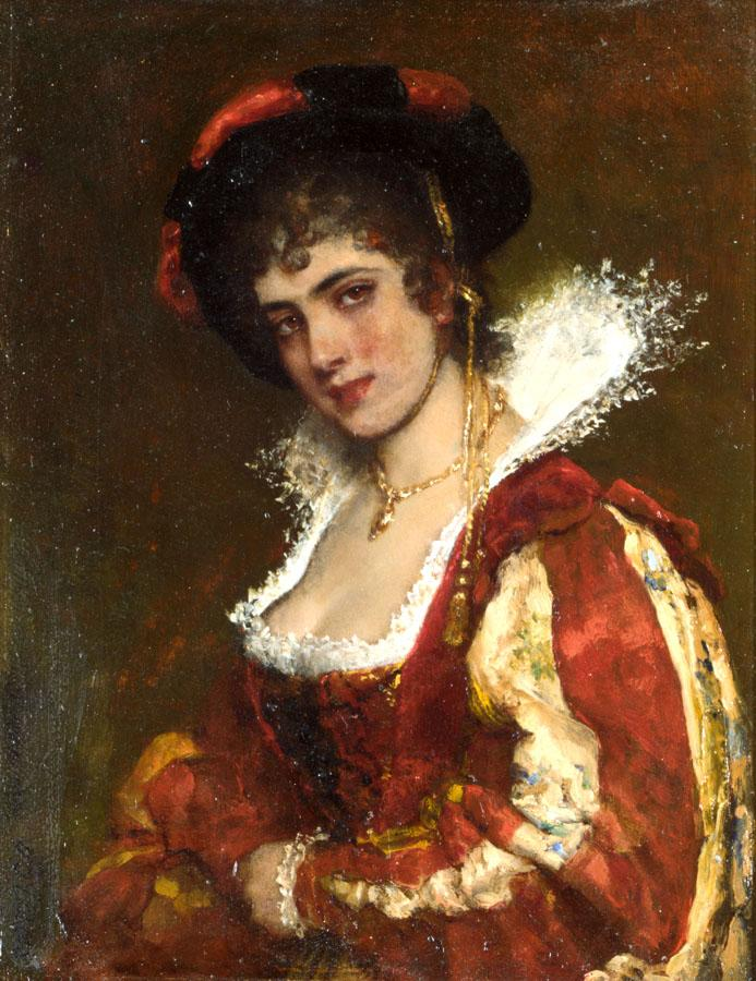 Blaas_Eugen_von_Portrait_of_a_Venetian_Lady