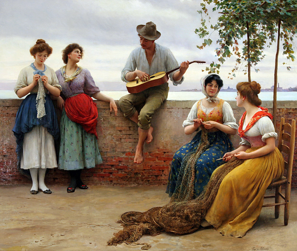 Blaas_Eugene_de_The_Serenade_1910_Oil_On_Canvas