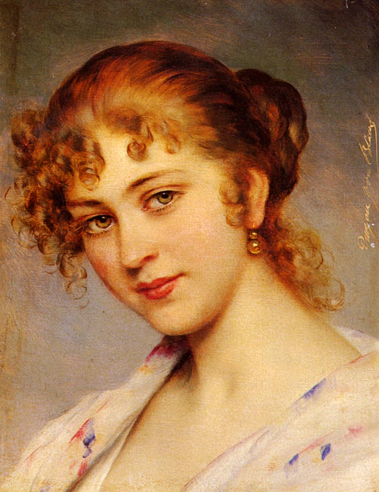 Blass_Eugen_Von_A_Portrait_Of_A_Young_Lady