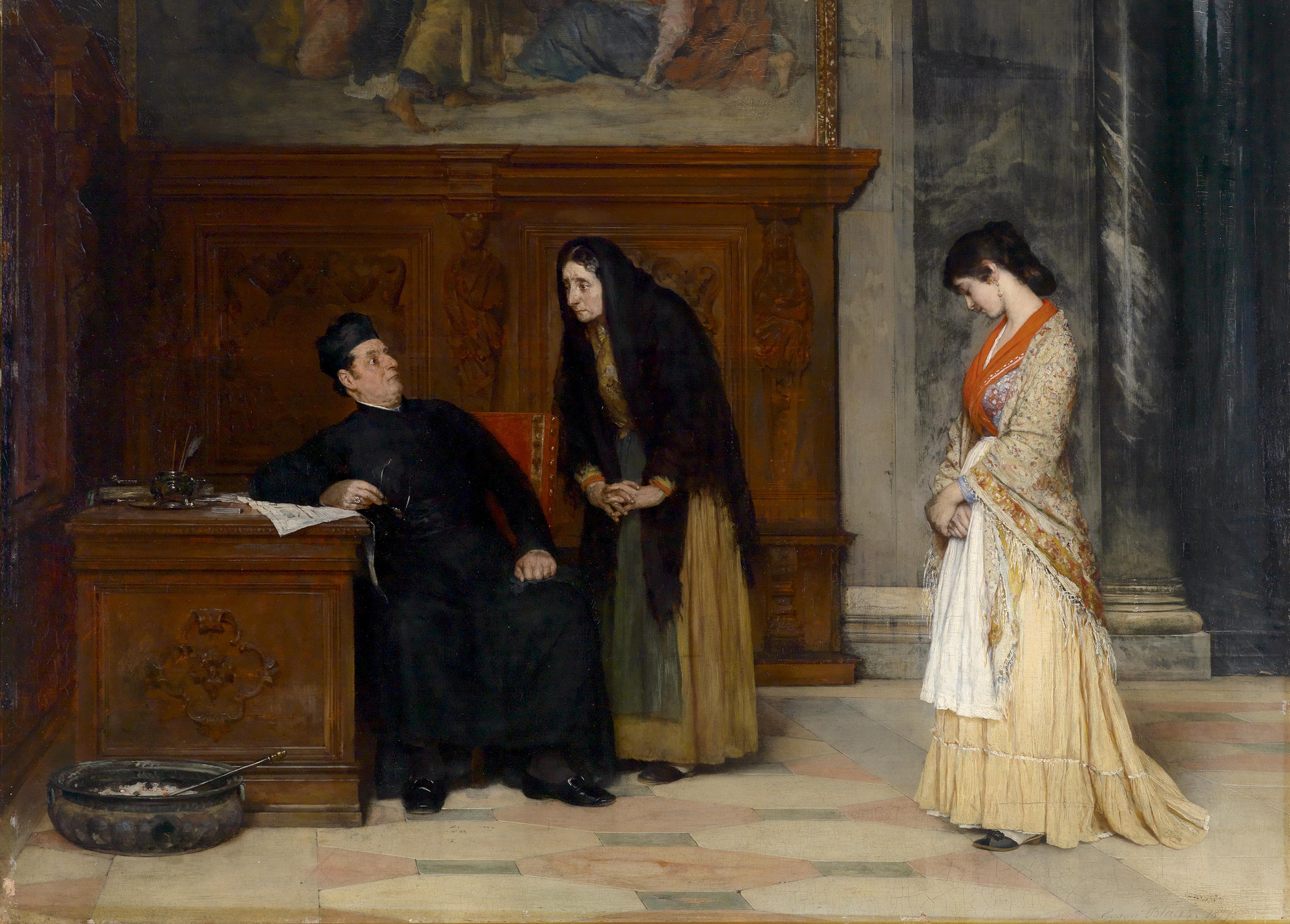 Eugen_von_Blaas_In_der_Sakristei_1877