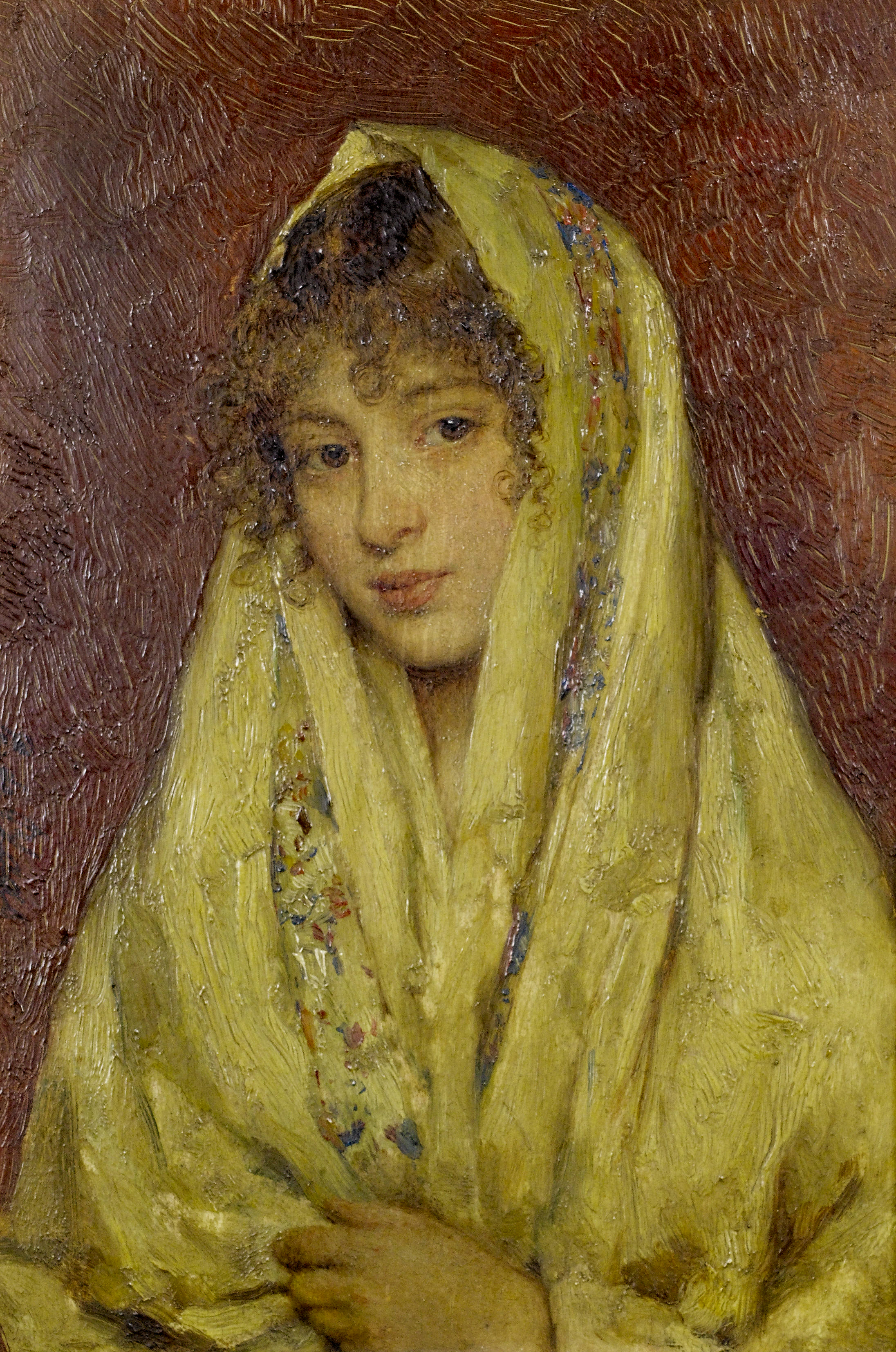 Girl in a yellow shawl, c. 1931