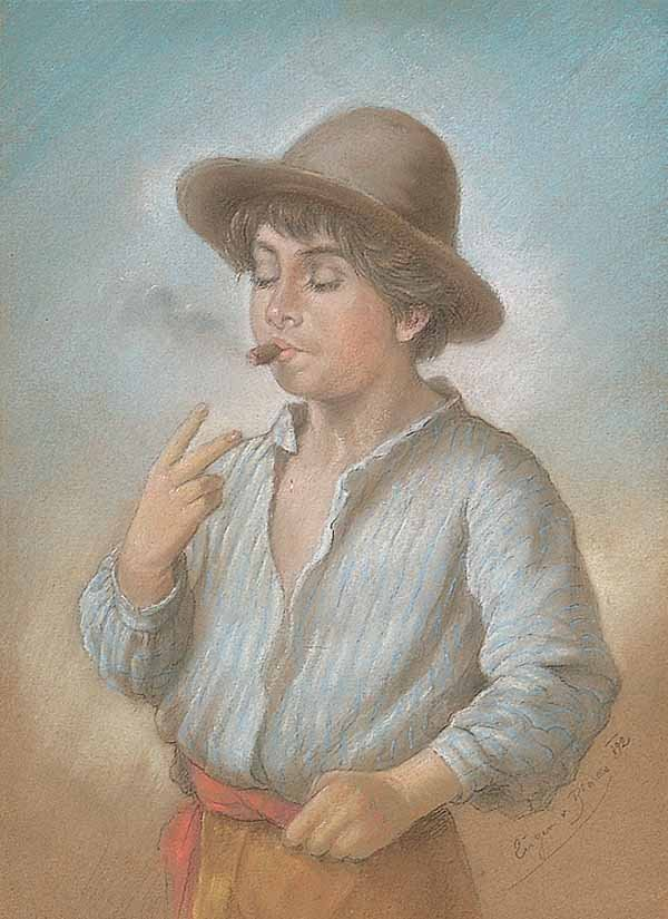 Young Boy with a Cigar