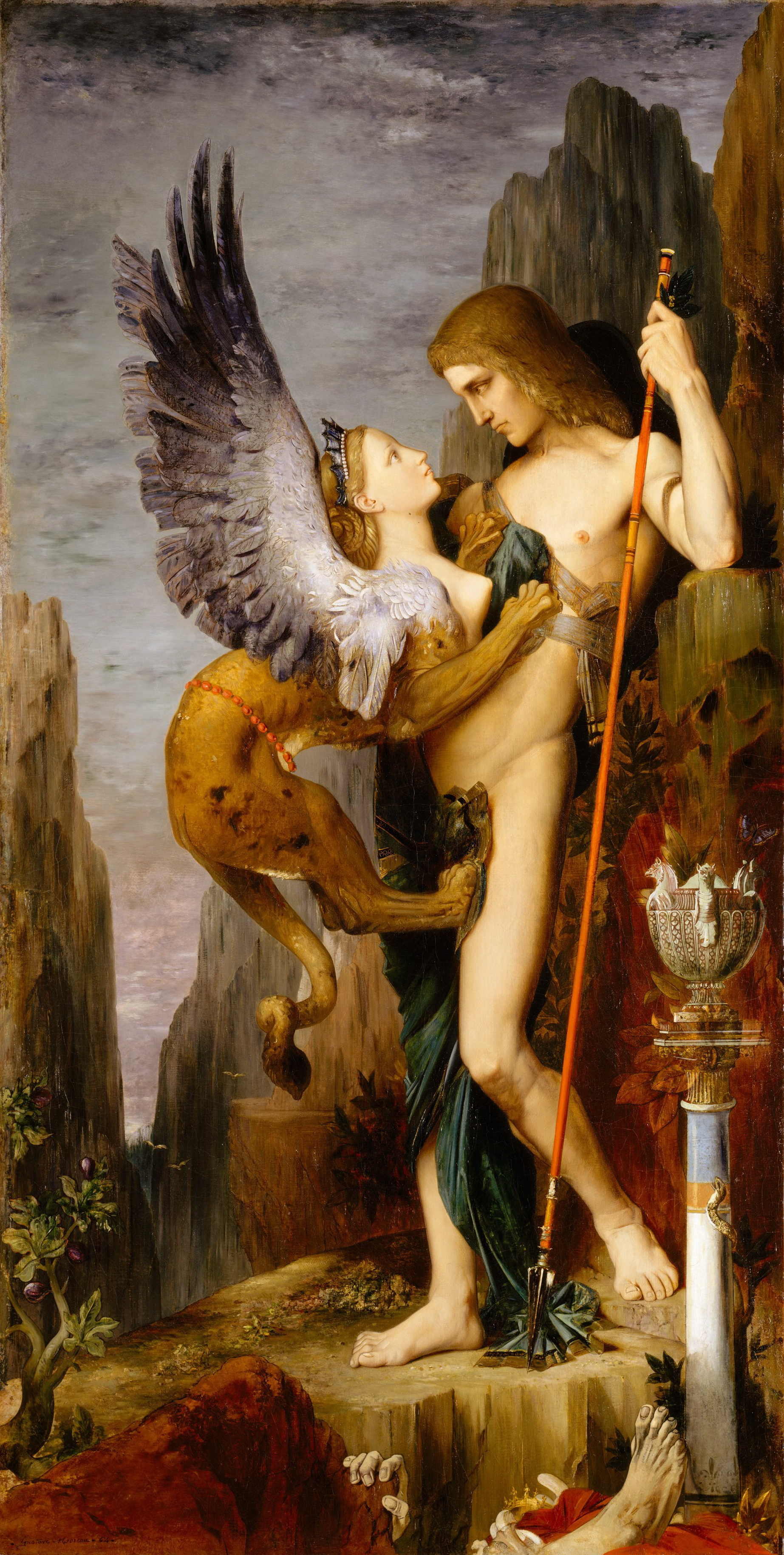 1864_Эдип и сфинкс (206.4 х 104.8 см) (Нью-Йорк, Музей Метрополитен)