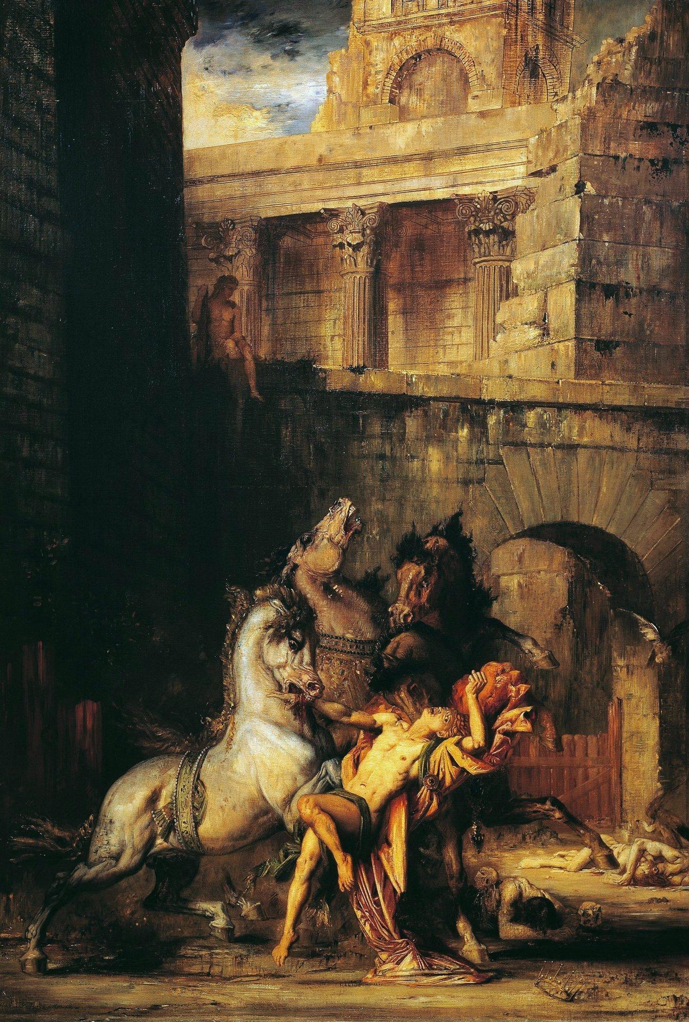 1865_Диомед, пожираемый лошадьми (140 х 95.5 см) (Руан, Музей изобраз. искусств)
