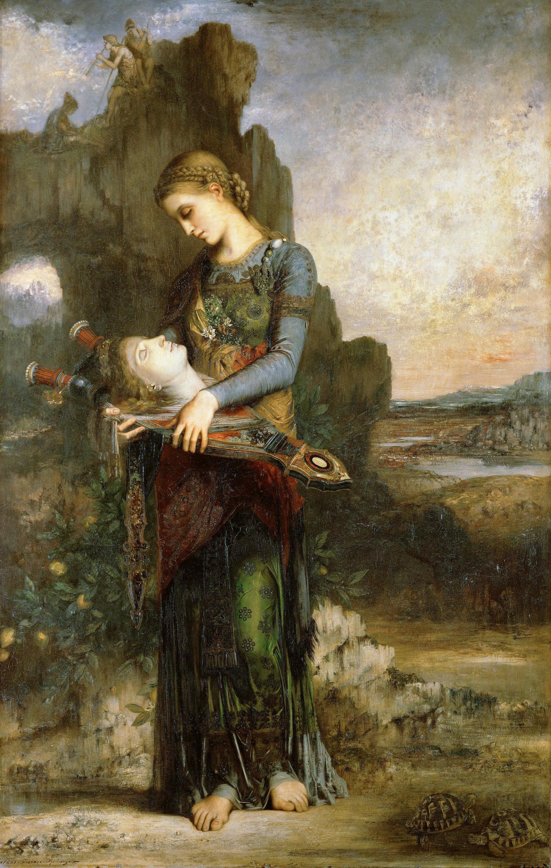 1865_Фракийская дквушка, несущая главу Орфея (154 х 99.5 см) (Париж, музей Орсэ)