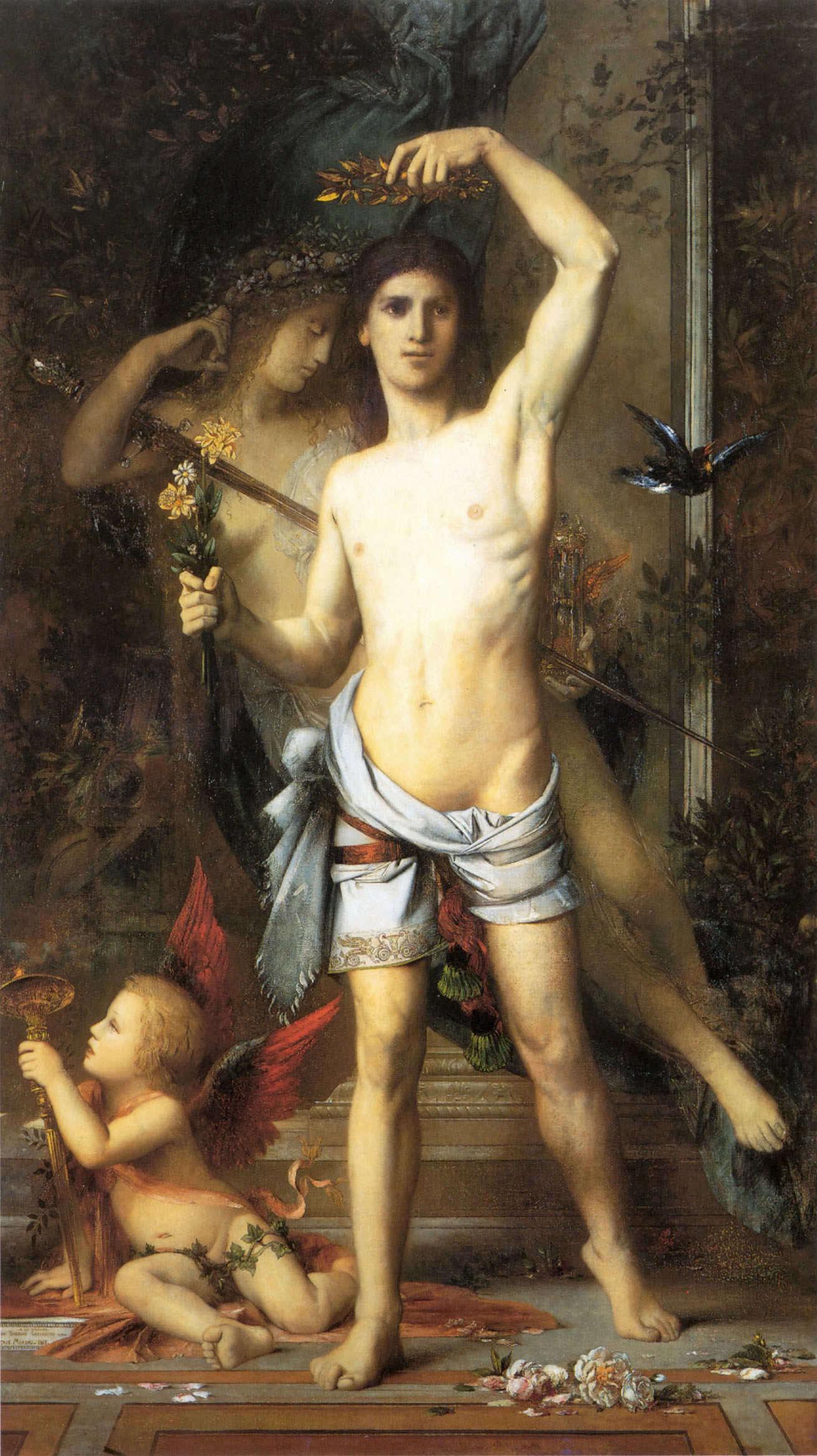1865_Юноша и смерть (123.2 х 215.9 см) (Кембридж, Гарвардский университет, музей Фогга)