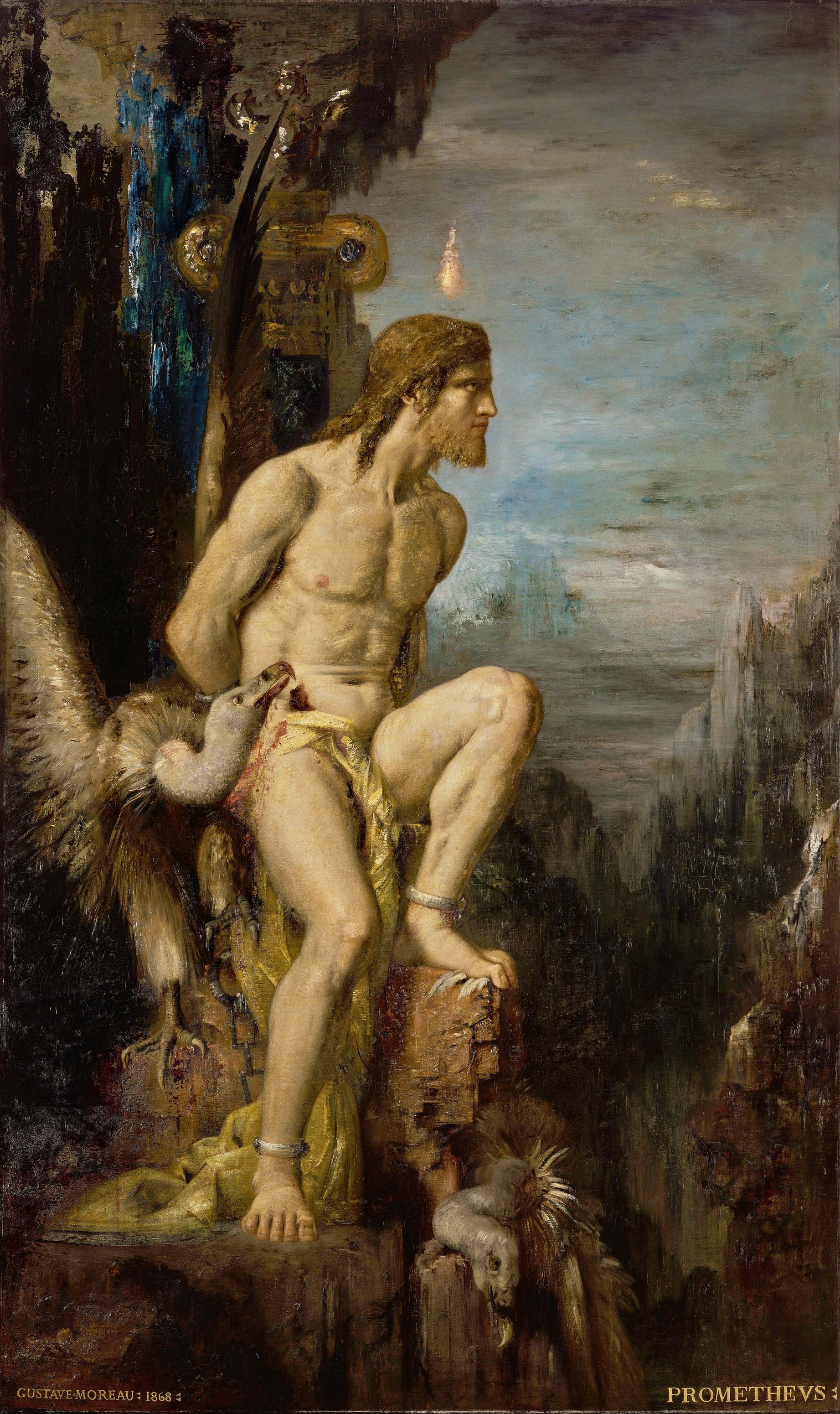 1868_Прометей (205 х 122 см) (Париж, музей Гюстава Моро)