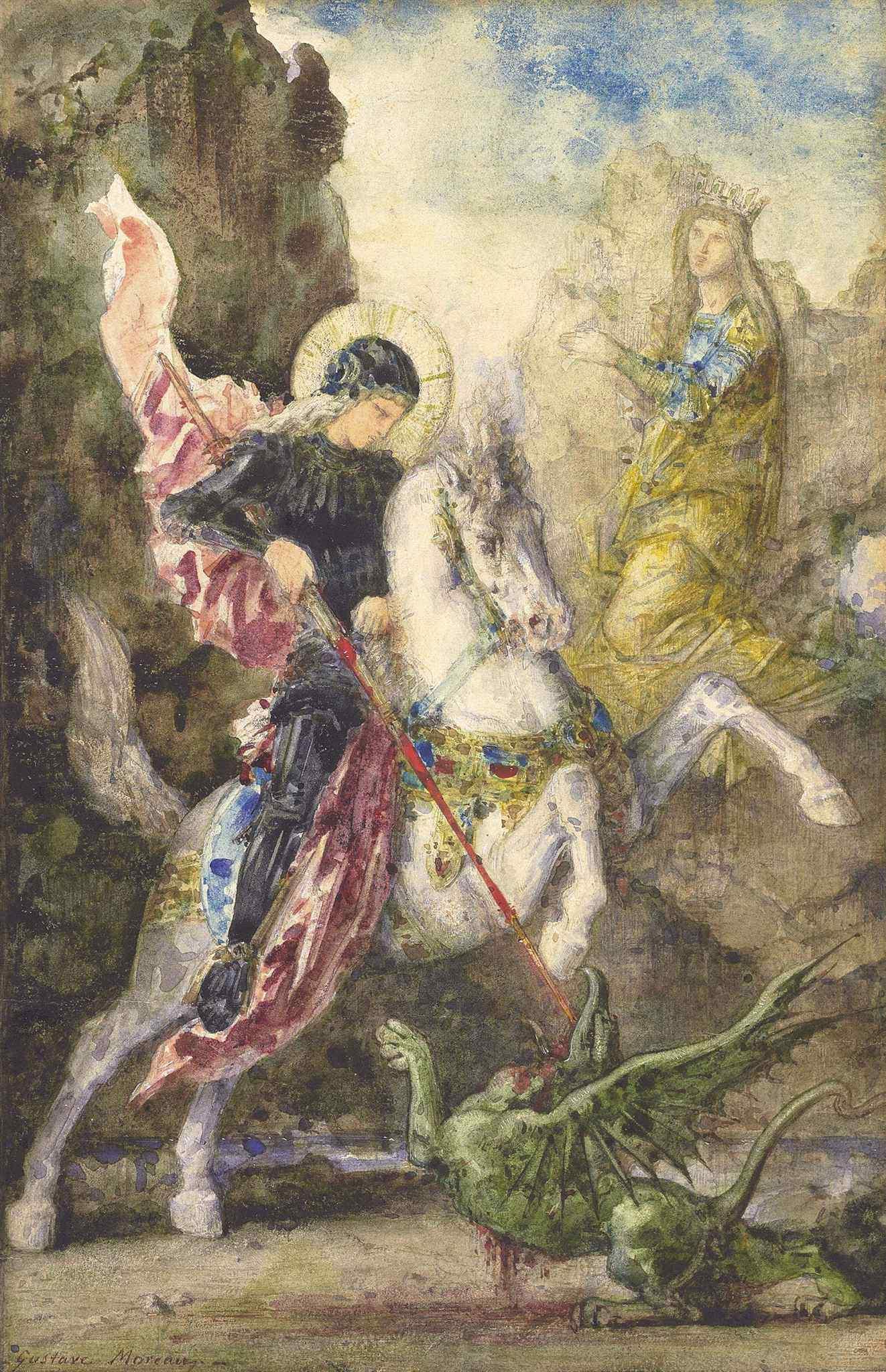 1869 (ок)_Святой Георгий и дракон (28.5 х 18.9 см) (частное собрание)