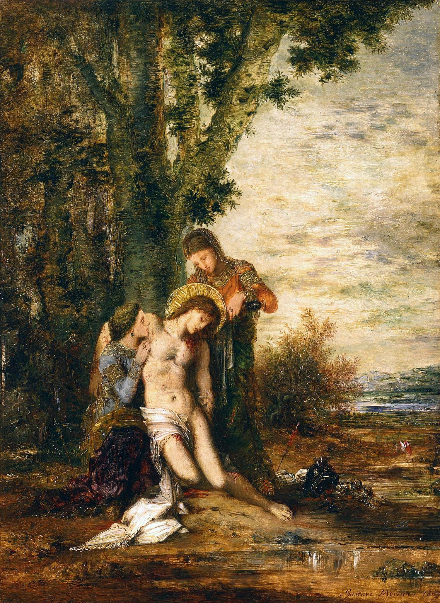 1869_Мученичество св.Себастьяна (32.2 х 23.8 см) (Сент-Луис, Музей искусства)