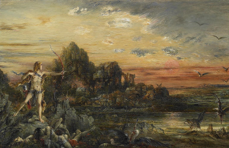 1872 (ок)_Геркулес и Стимфалийские птицы (18 х 29 см) (частное собрание)