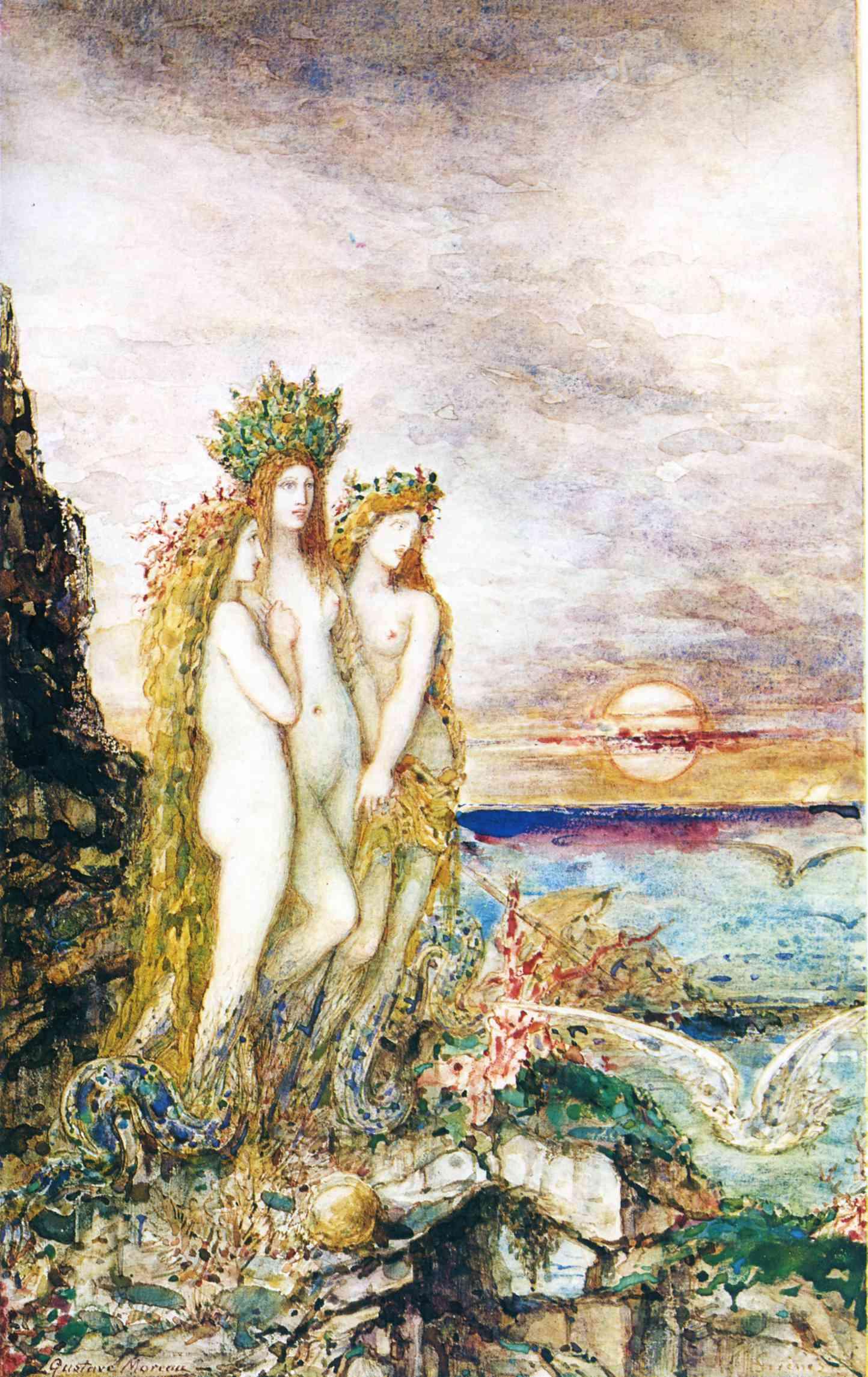 1872 (ок)_Сирены (акварель)