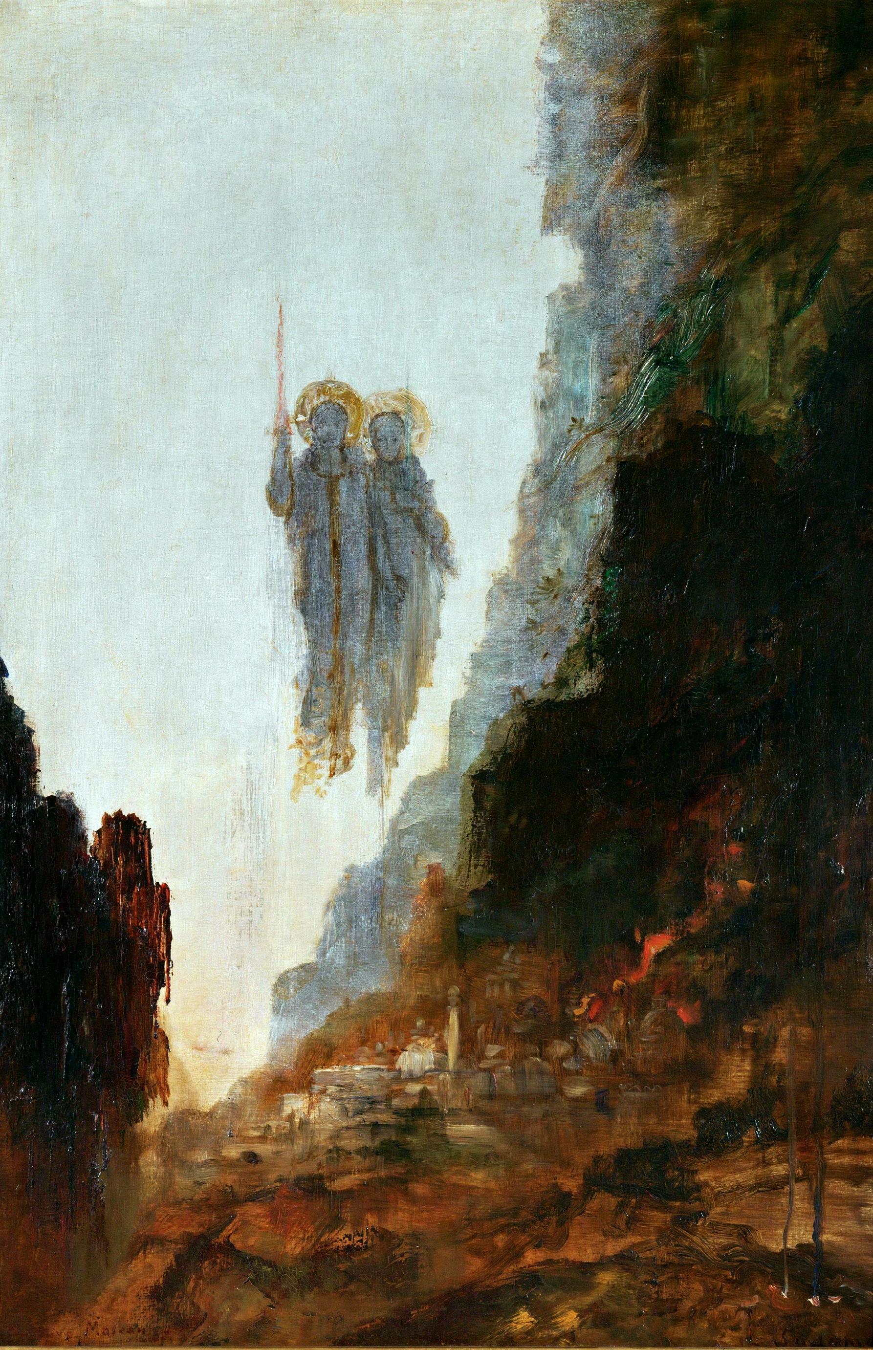 1872-1875_Ангелы Содома (93 х 62 см) (Париж, музей Гюстава Моро)