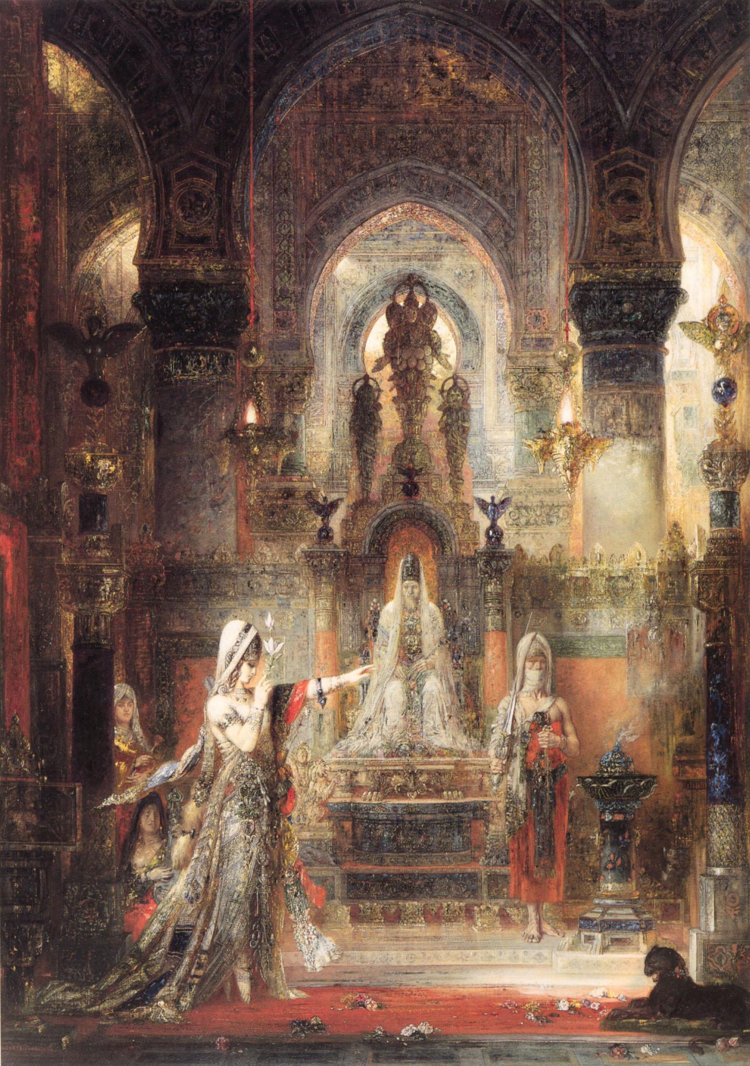 1874-1876_Танец Саломеи перед Иродом (103.5 х 144 см) (Лос-Анжелес, коллекция Эрманда Хаммера)