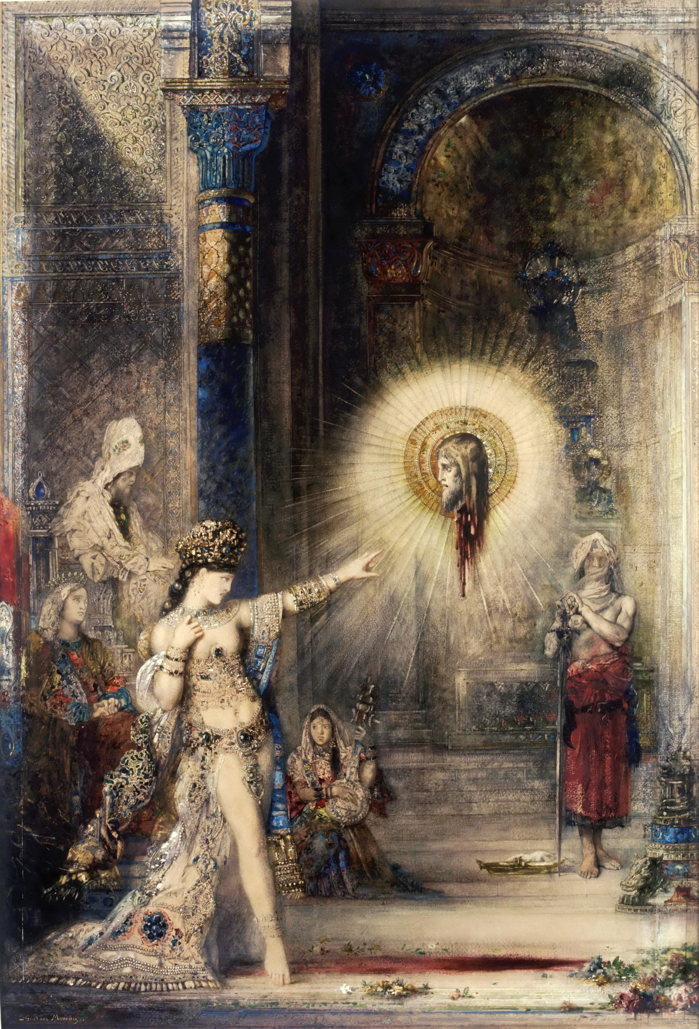 1876 (ок)_Пророчество (явление головы св.Иоанна Крестителя перед Саломеей) (106 х 72.2 см) (акварель) (Париж, Лувр)
