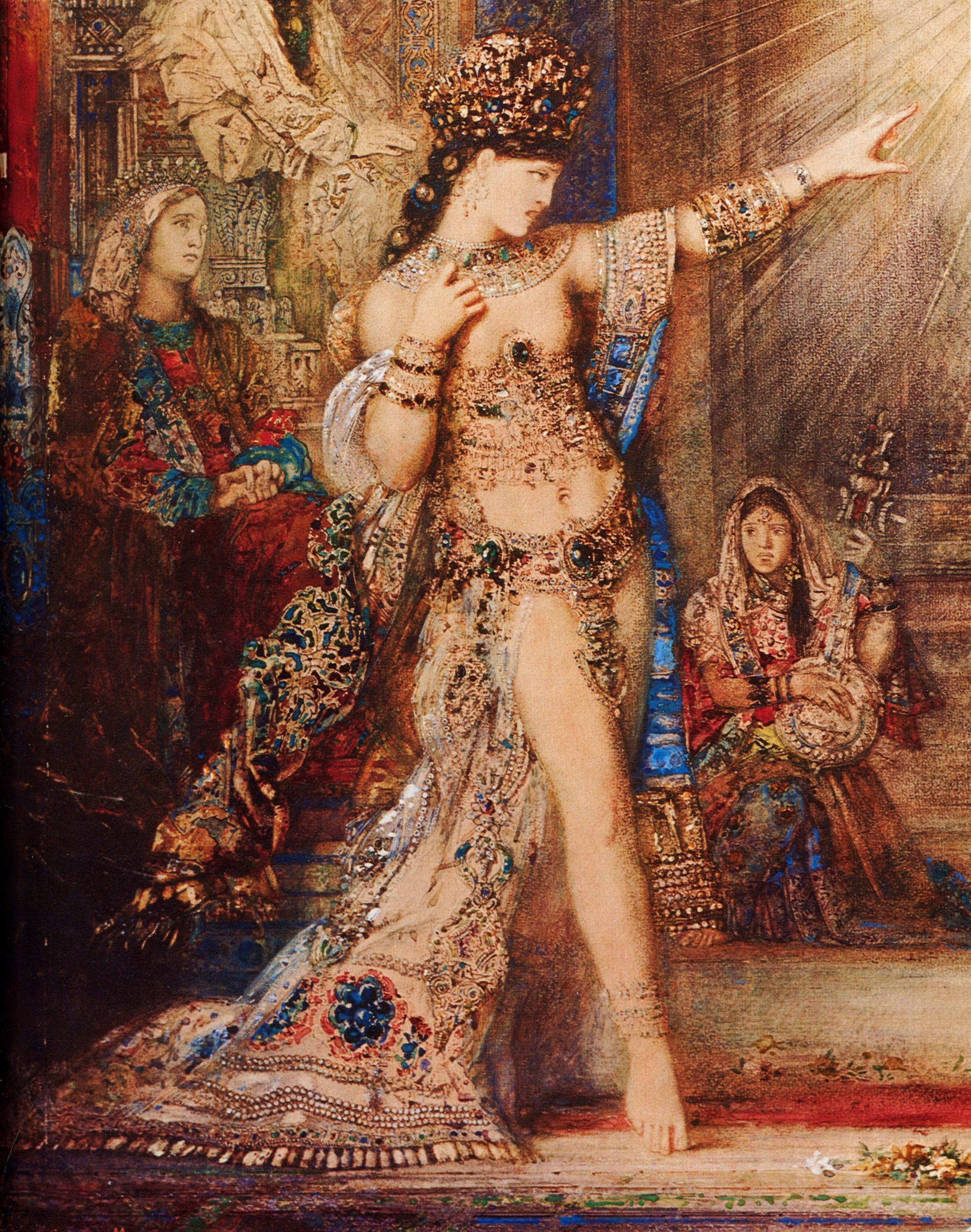 1876 (ок)_Пророчество (явление головы св.Иоанна Крестителя перед Саломеей) (106 х 72.2) (акварель) (Париж, Лувр)-деталь