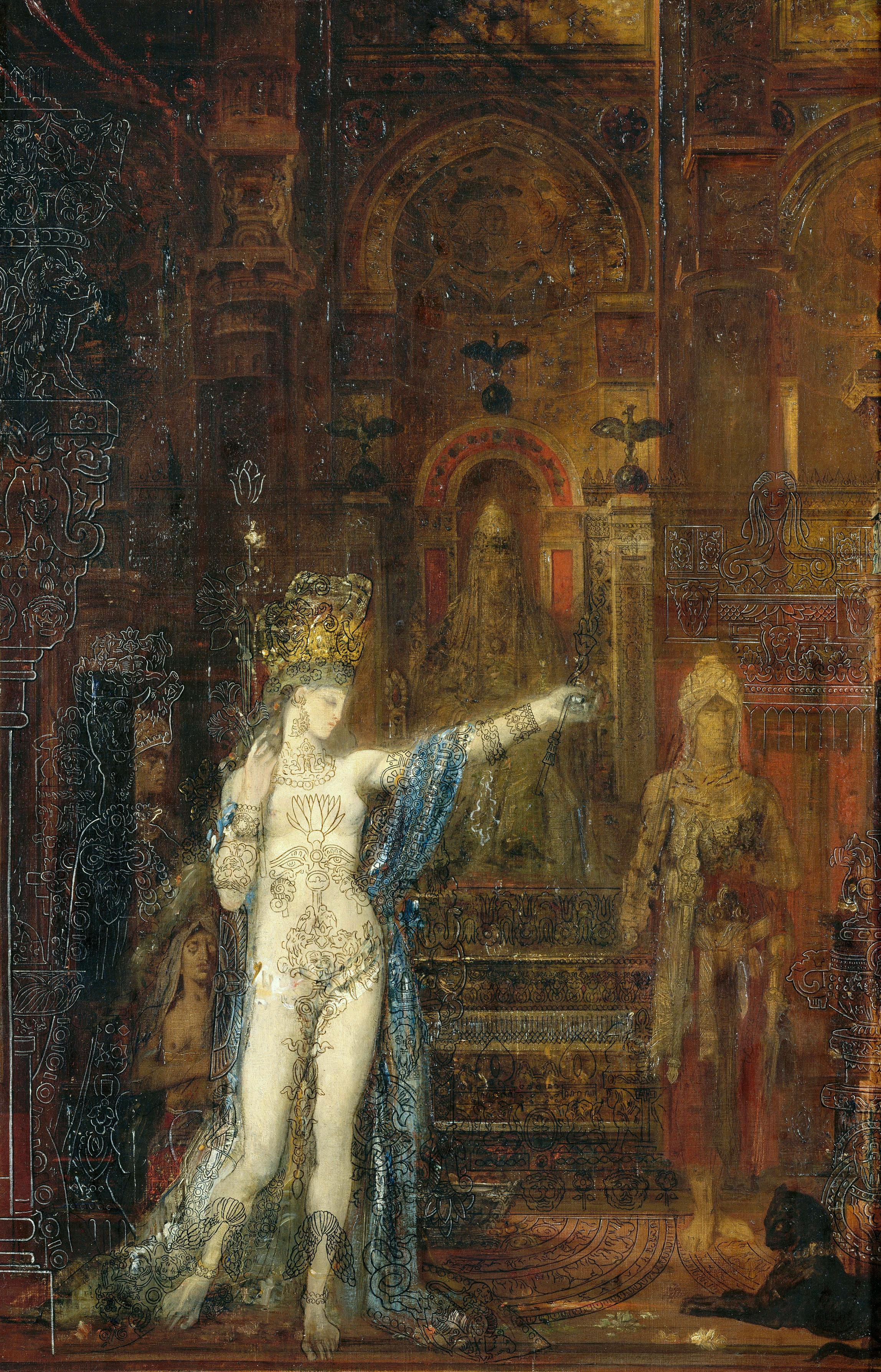 1876 (ок)_Саломея, танцующая перед Иродом (92 х 60 см) (Париж, музей Гюстава Моро)
