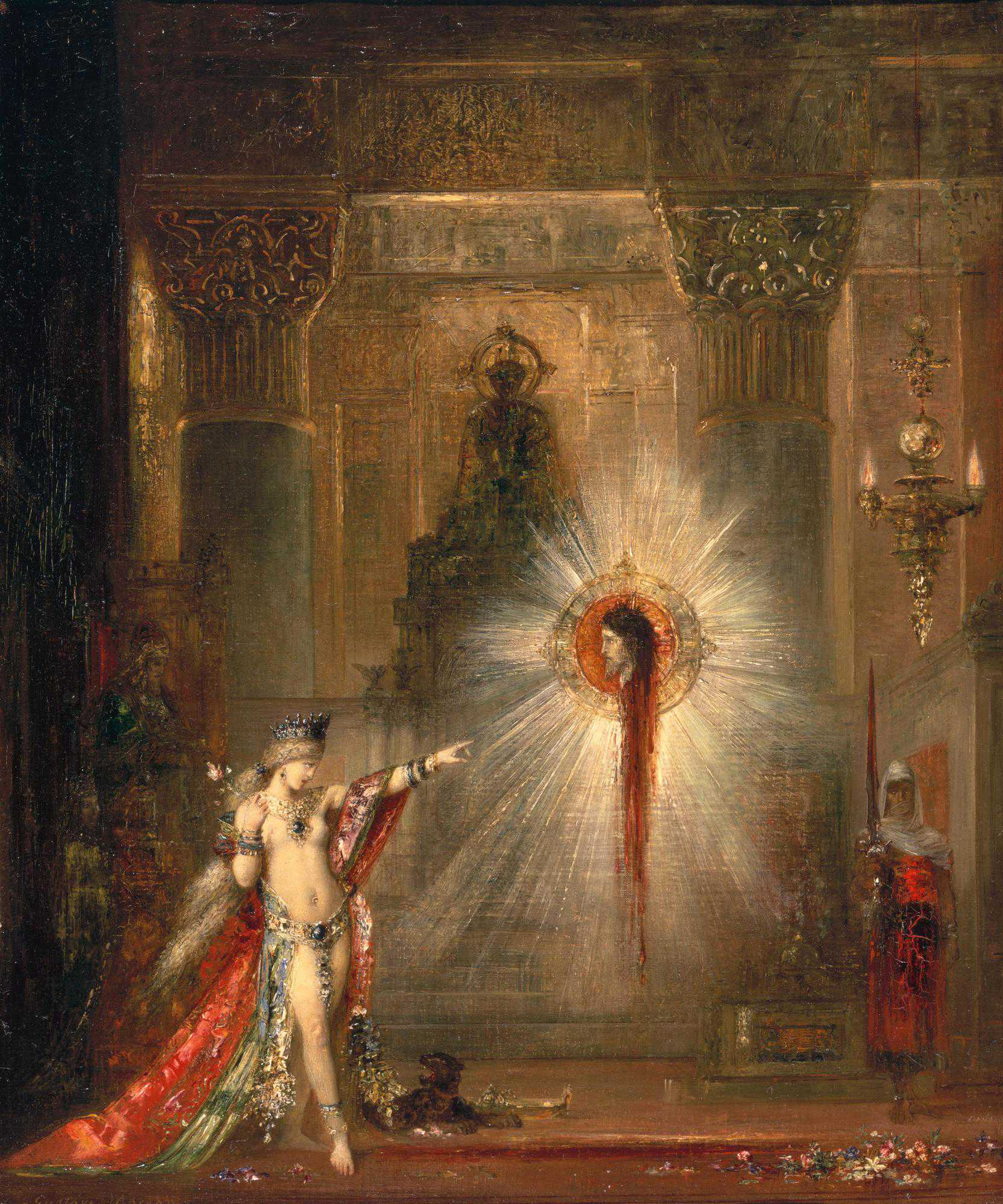 1876-1877_Пророчество (явление головы св.Иоанна Крестителя перед Саломеей) (55.9 х 46.7 см) (Кембридж, Гарвардский универ-т музей Фогга)