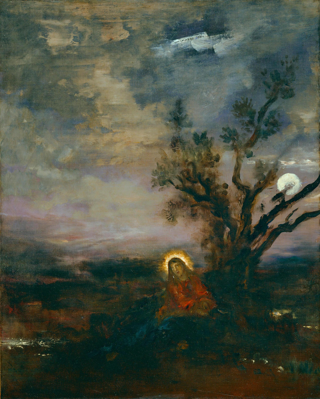 1880 (ок)_Христос в Гефсиманском саду (80 х 75 см) (Париж, музей Гюстава Моро)