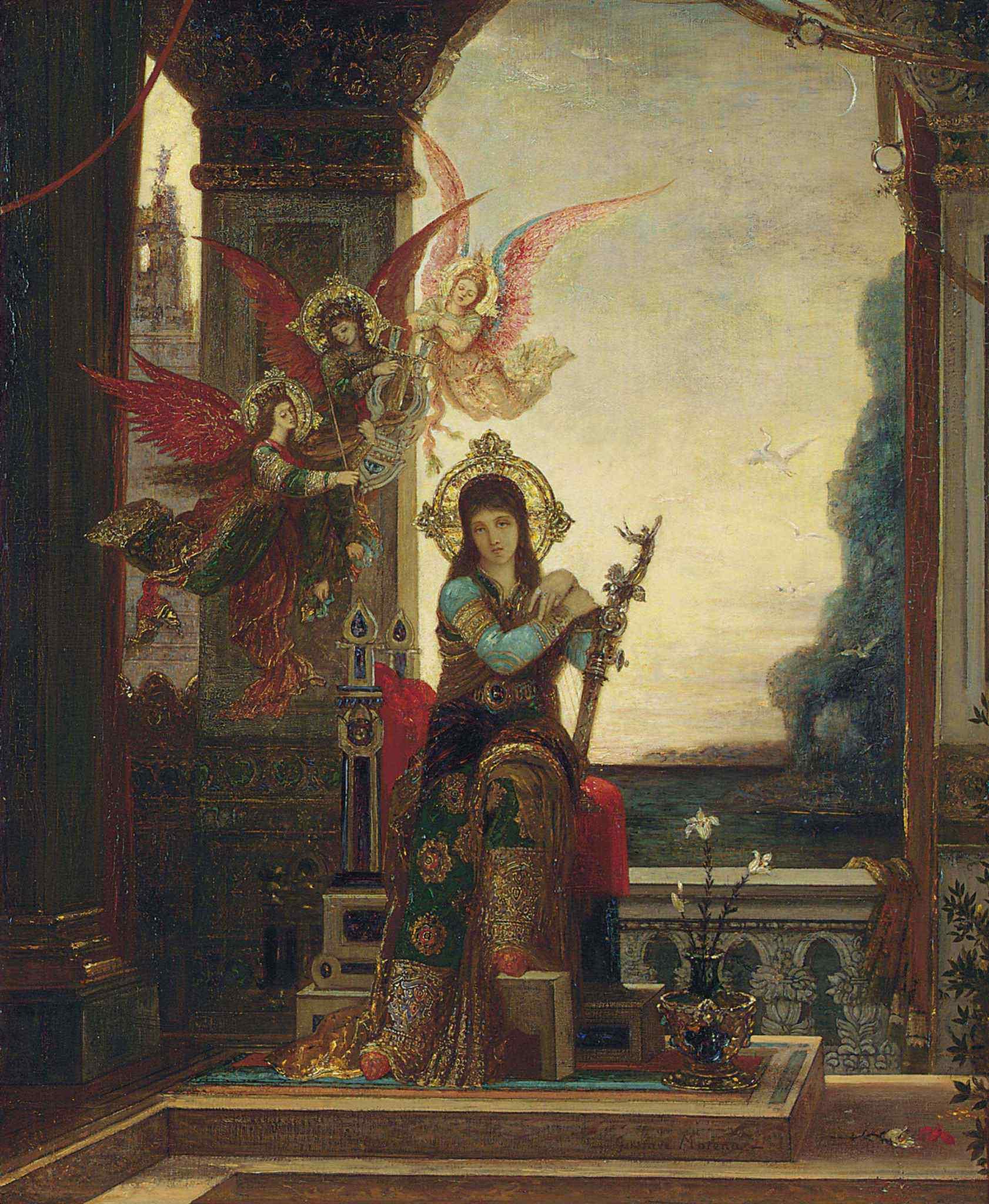 1880-1885_Святая Цецилия (64.8 х 54 см) (частное собрание)