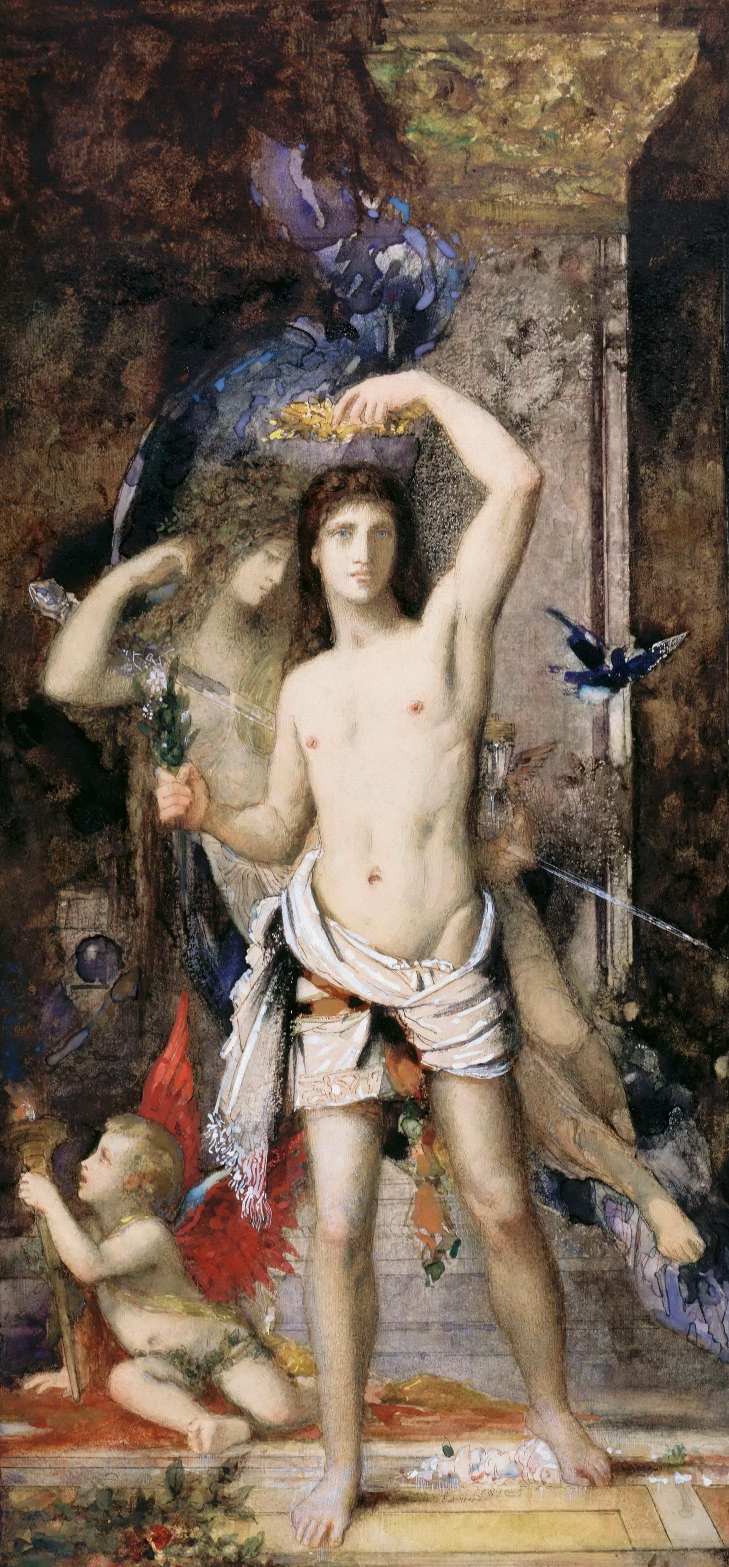 1881_Юноша и смерть (36 х 22.8 см) (акварель, гуашь и карандаш) (Париж, Лувр)