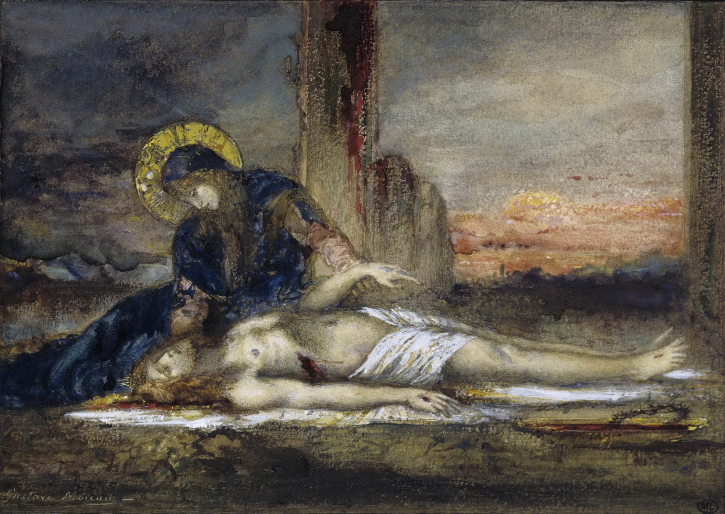 1882 (ок)_Пьета (20 х 26.3 см) (акварель и гуашь) (Париж, Лувр)