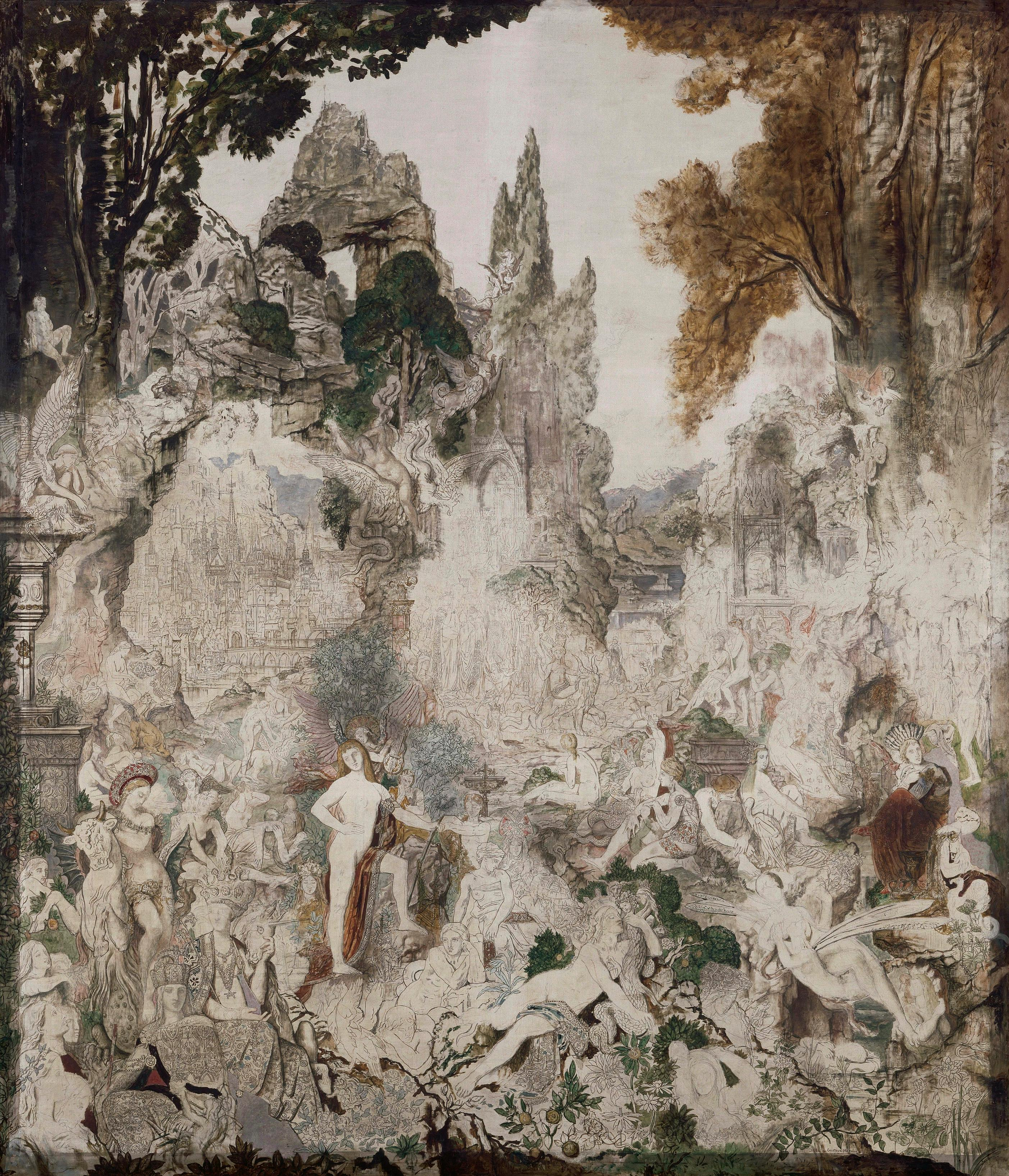 1884_Химеры (236 х 204 см) (Париж, музей Гюстава Моро)