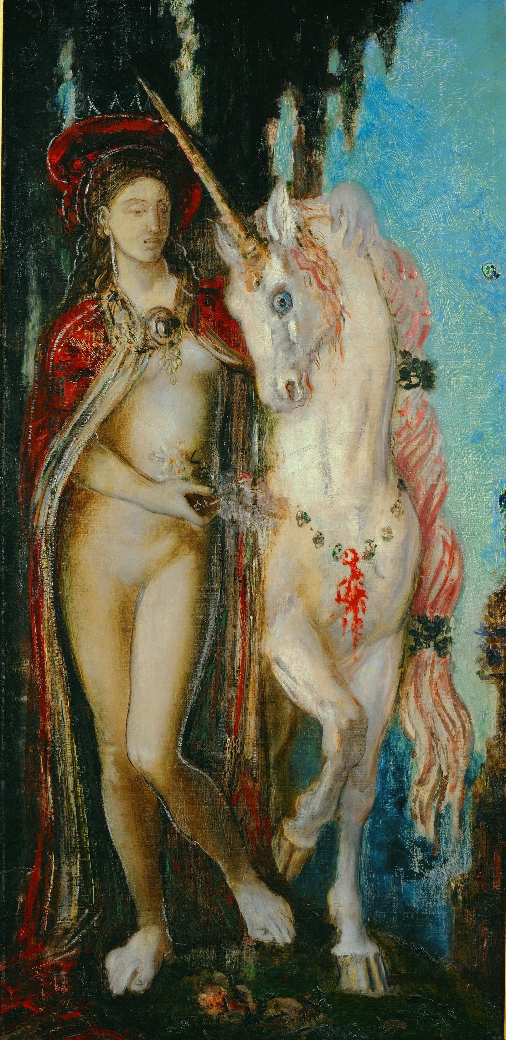 1885 (ок)_Единорог (78 х 48 см) (Париж, музей Гюстава Моро)