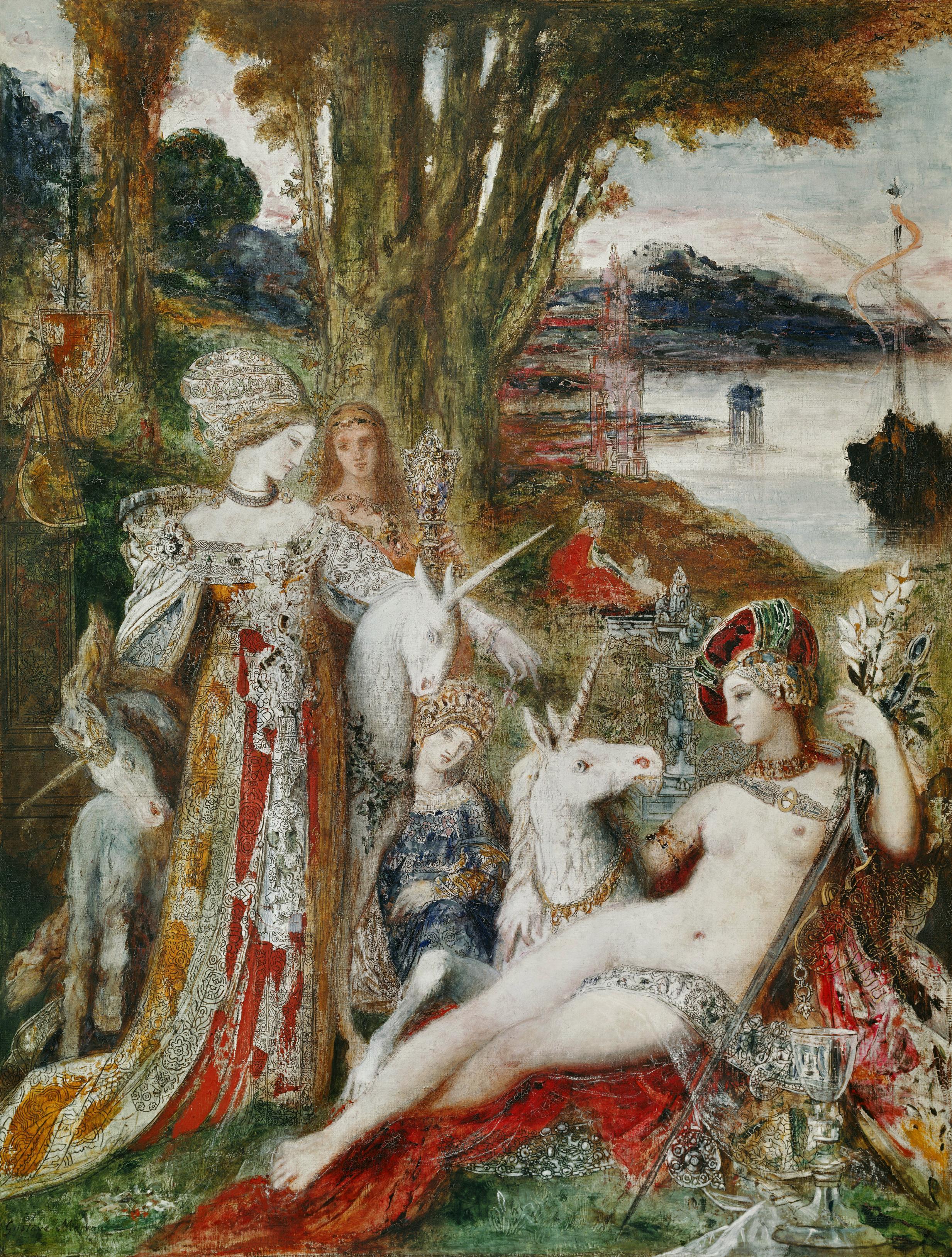 1885_Единороги (115 х 90 см) (Париж, музей Гюстава Моро)