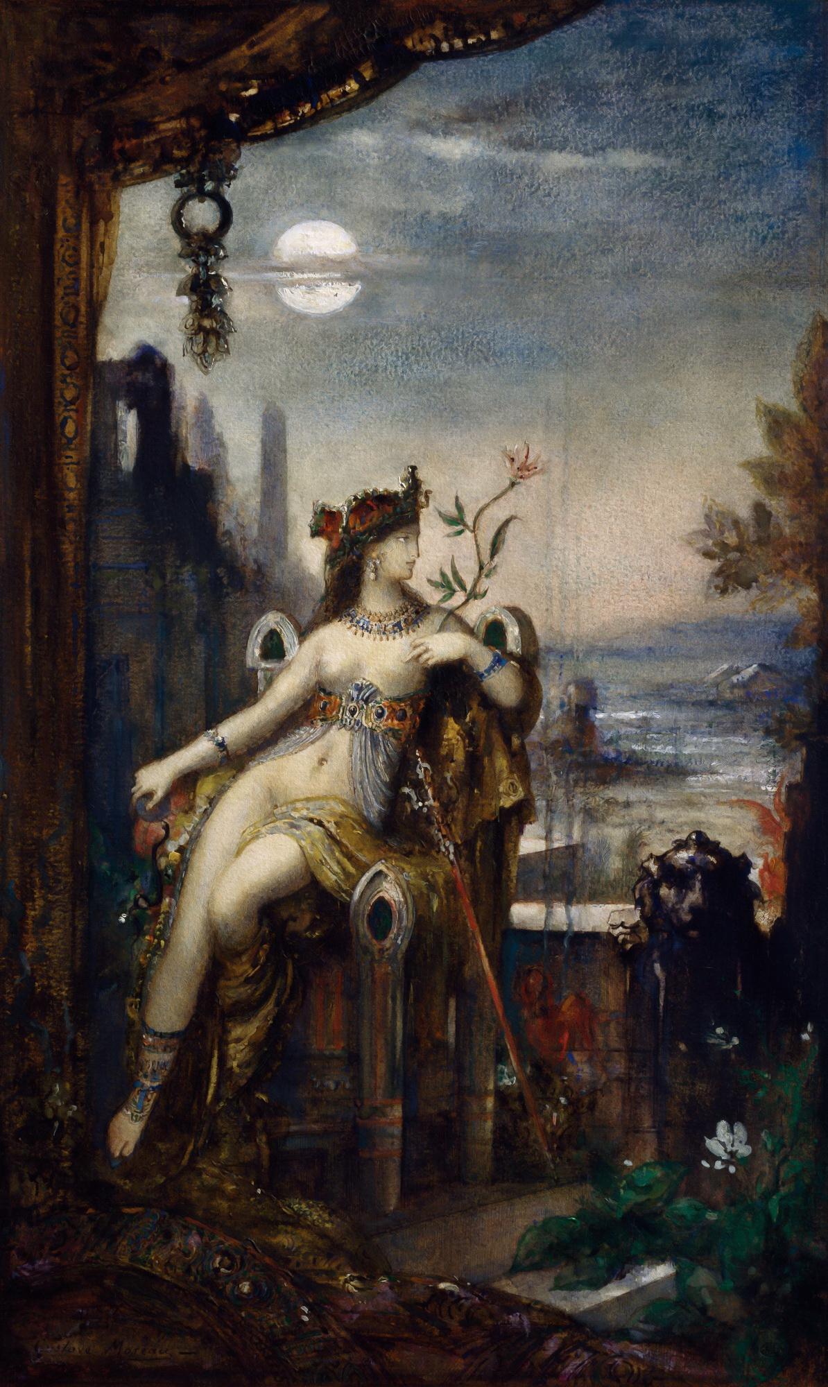 1887_Клеопатра (39.5 х 25 см) (акварель и гуашь) (Париж, Лувр)