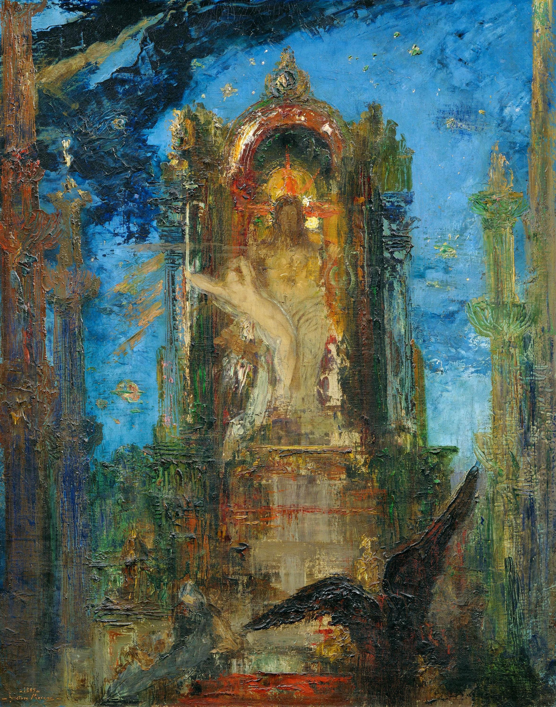 1889 (ок)_Юпитер и Семела (эскиз) (80 х 65 см) (Париж, музей Моро)