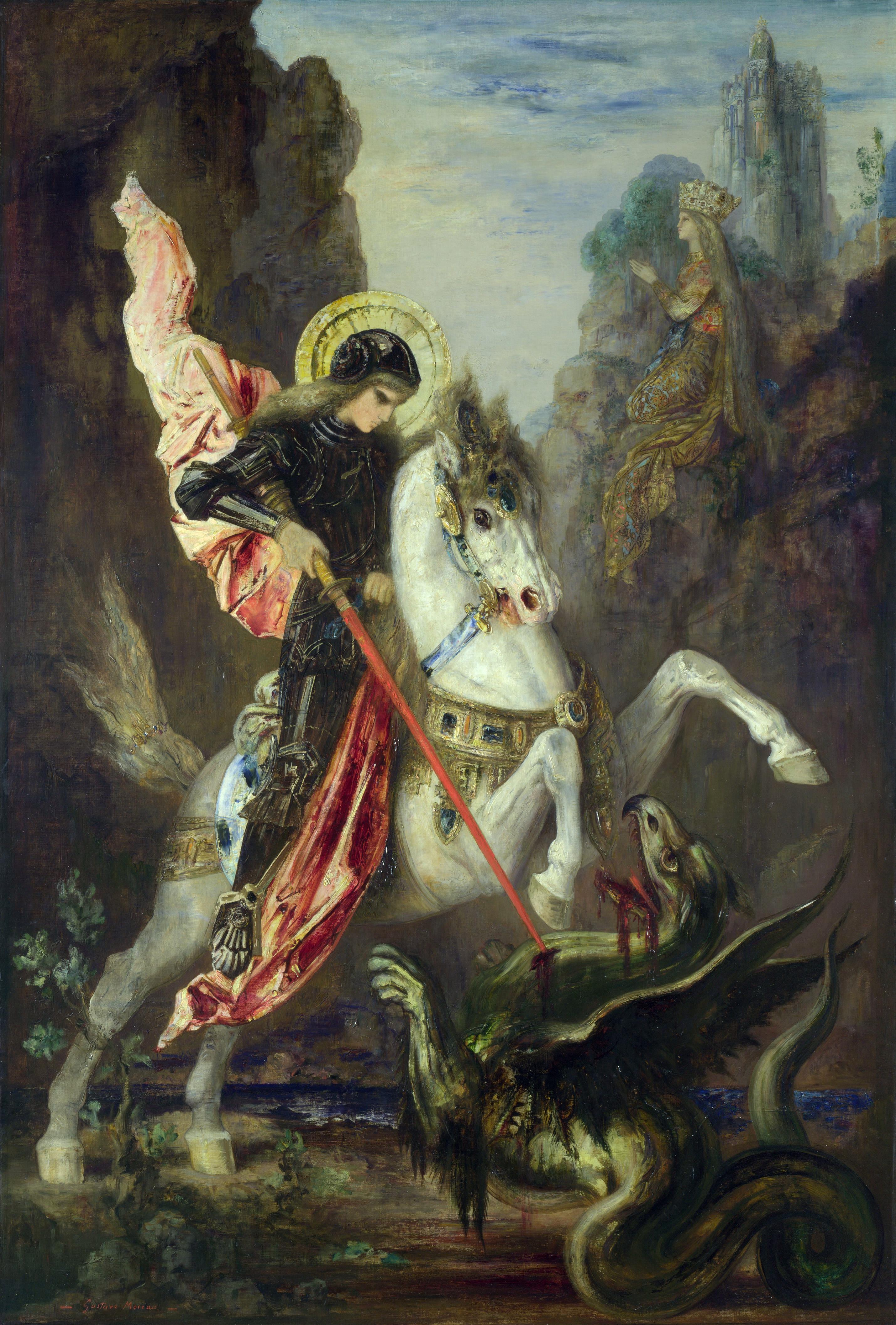 1889-1890_Святой Георгий и дракон (Лондон, Национальная галерея)