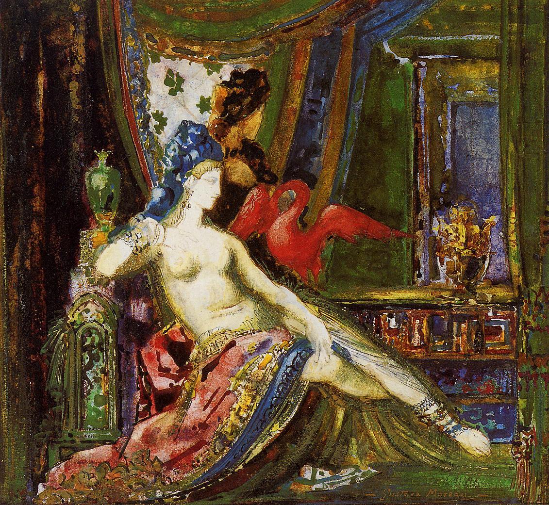 1890 (ок)_Далила (акварель)