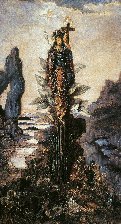 1890 (ок)_Мистический цветок (253 х 137 см) (Париж, музей Гюстава Моро)
