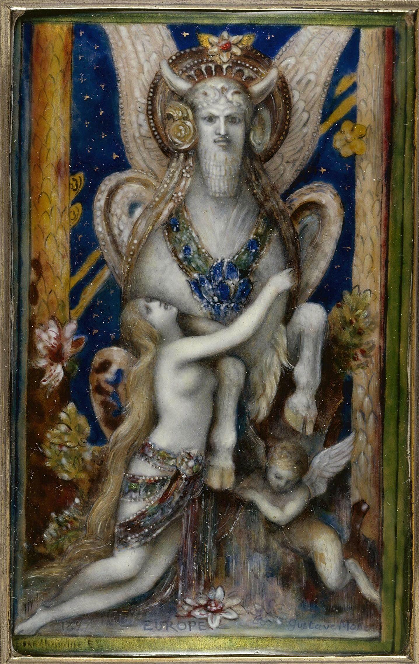 1897_Европа и Юпитер в образе быка (13.5 х 8.5 см) (эмаль) (Париж, Петит Палас, Музей современного искусства)
