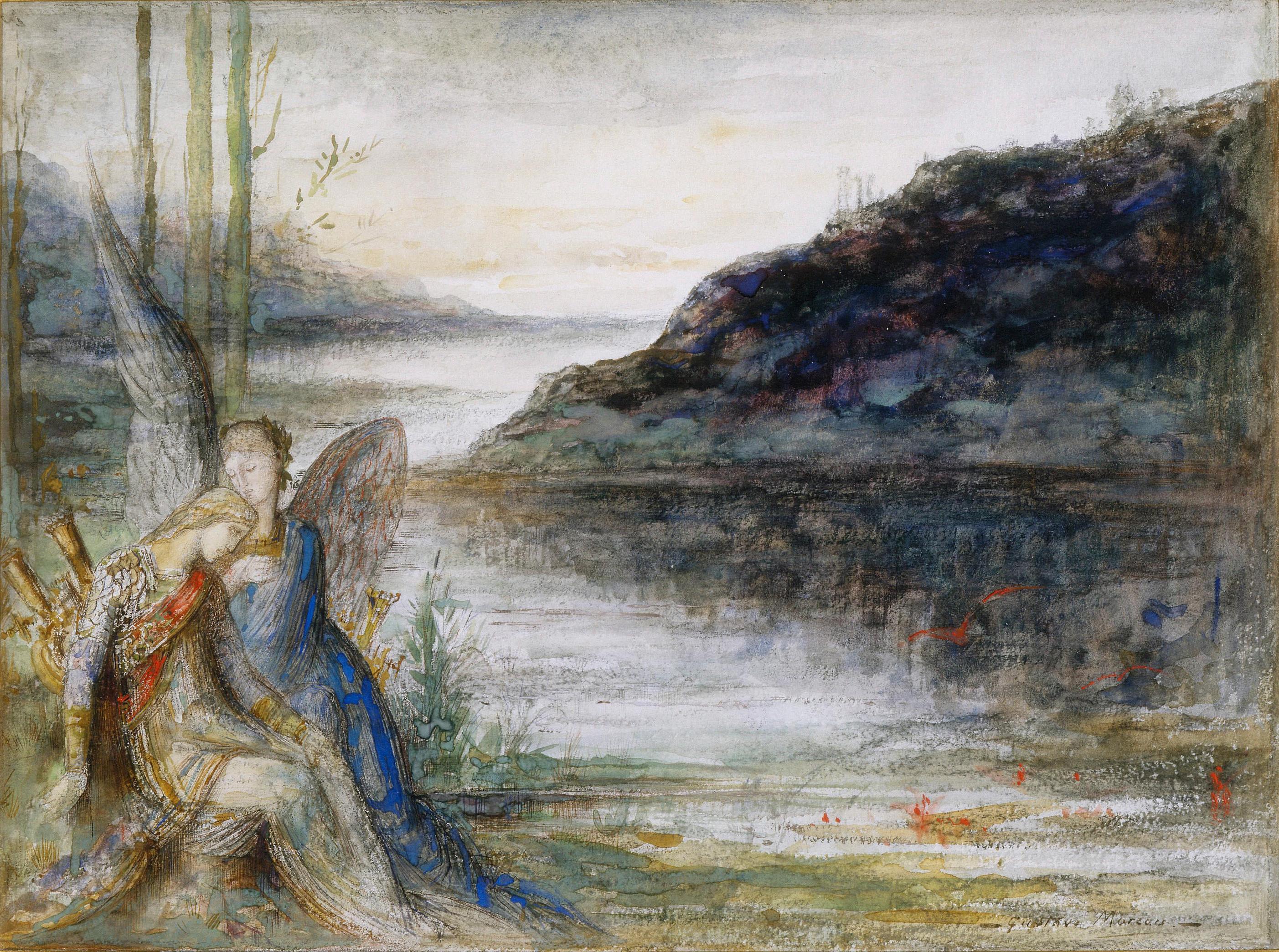 Вечер и печаль (35 х 33.5 см) (акварель) (Париж, музей Гюстава Моро)